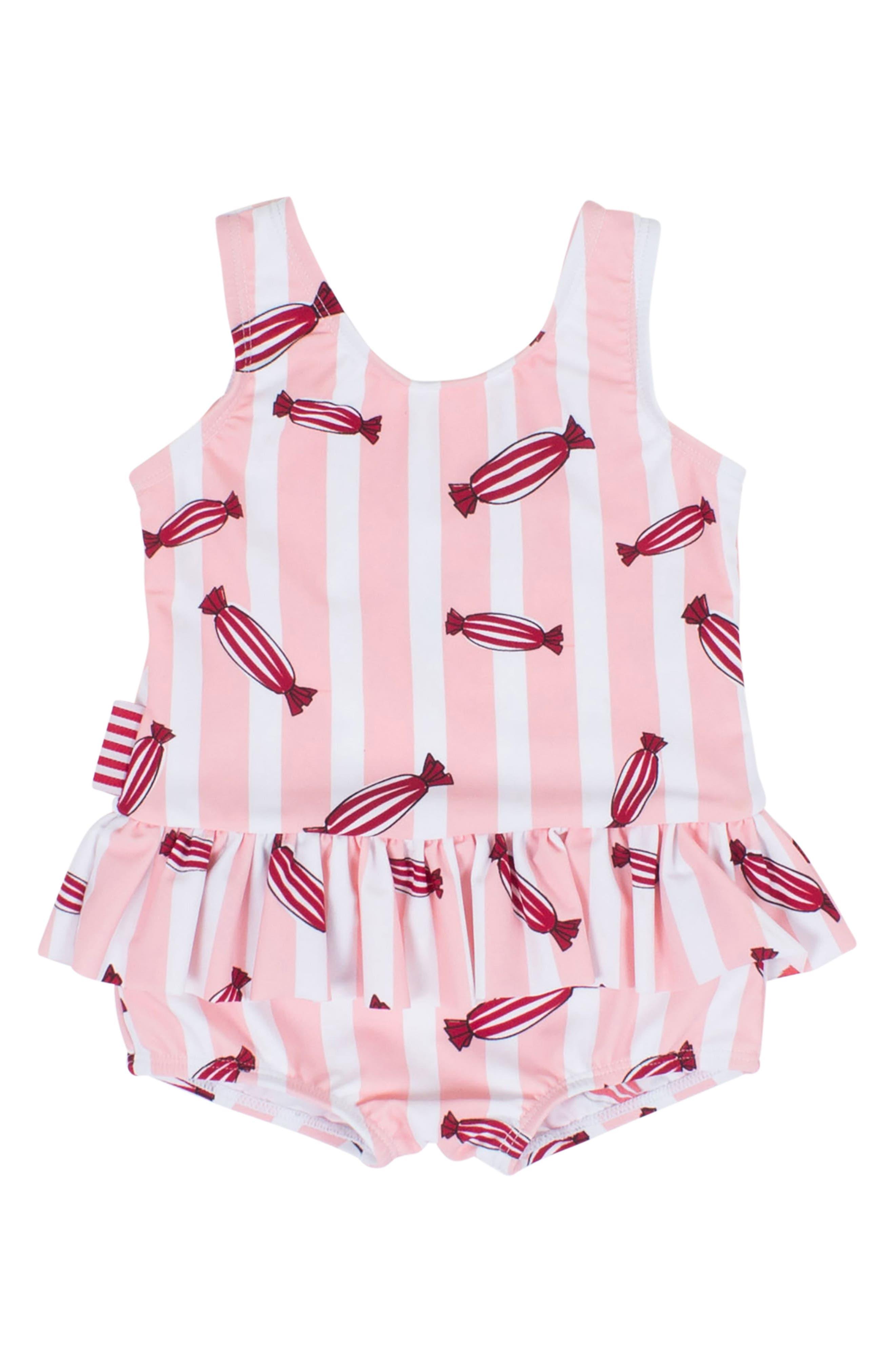 Bonbon Skirted One-Piece Swimsuit,                         Main,                         color,