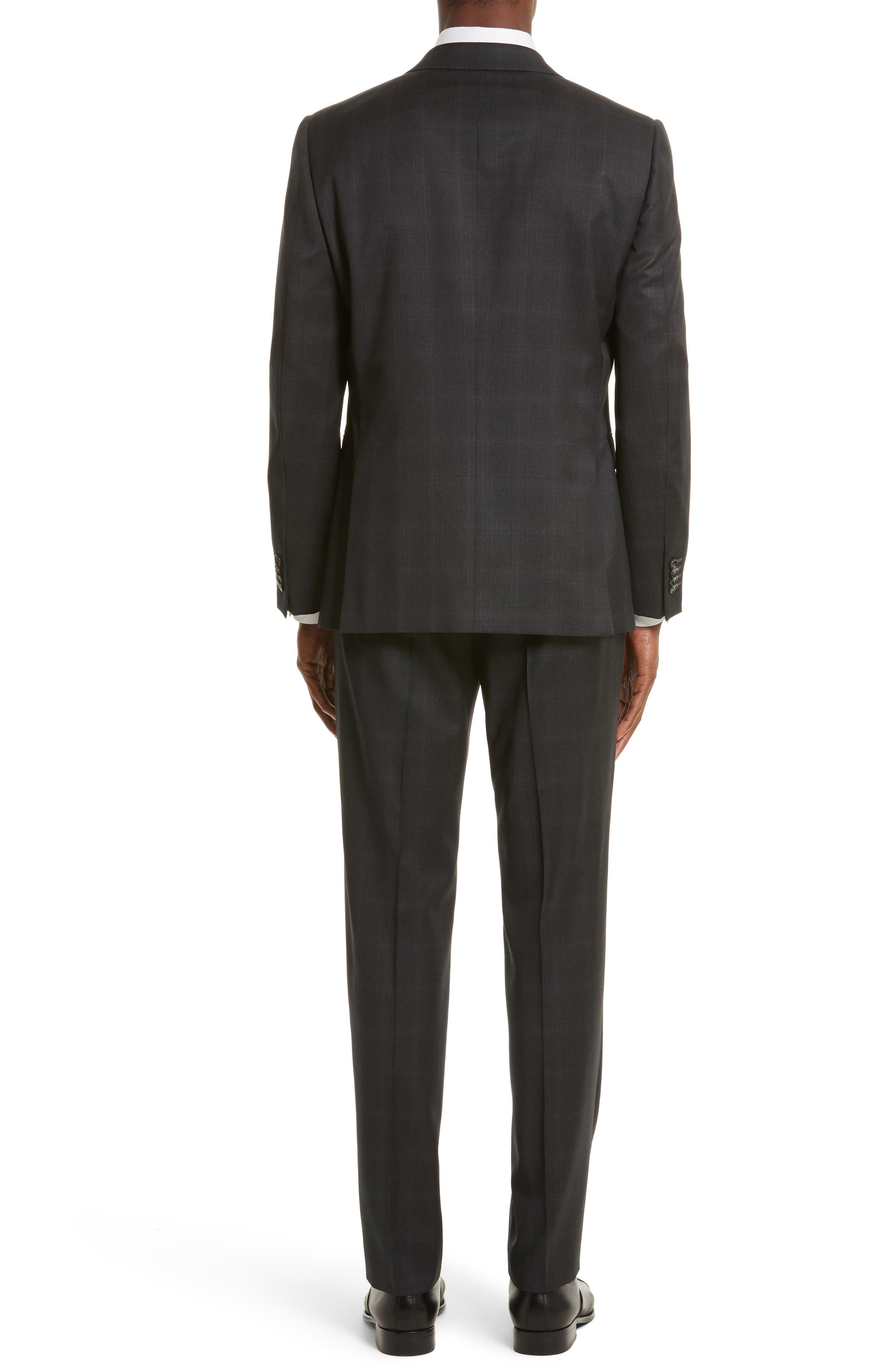 Drop 7 Trim Fit Plaid Wool Suit,                             Alternate thumbnail 2, color,                             026