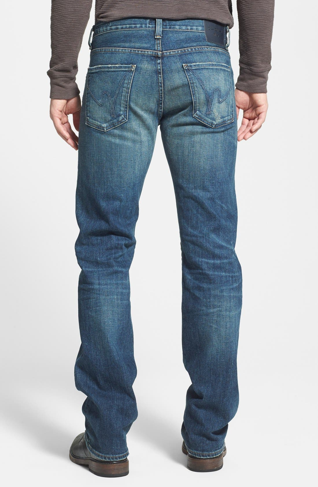 'Sid' Classic Straight Leg Jeans,                             Alternate thumbnail 2, color,                             429