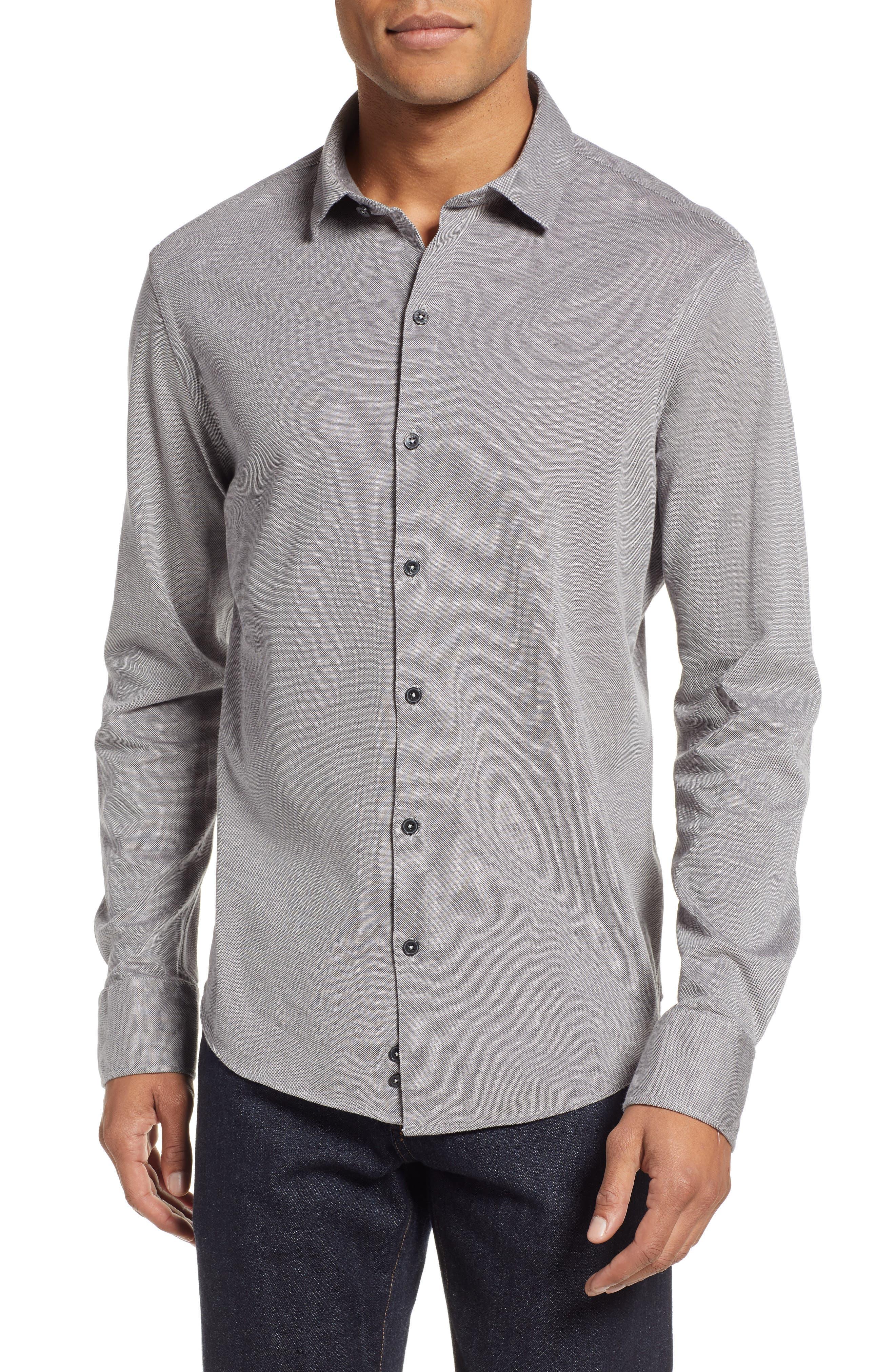 Raphael Regular Fit Sport Shirt,                         Main,                         color, CHARCOAL