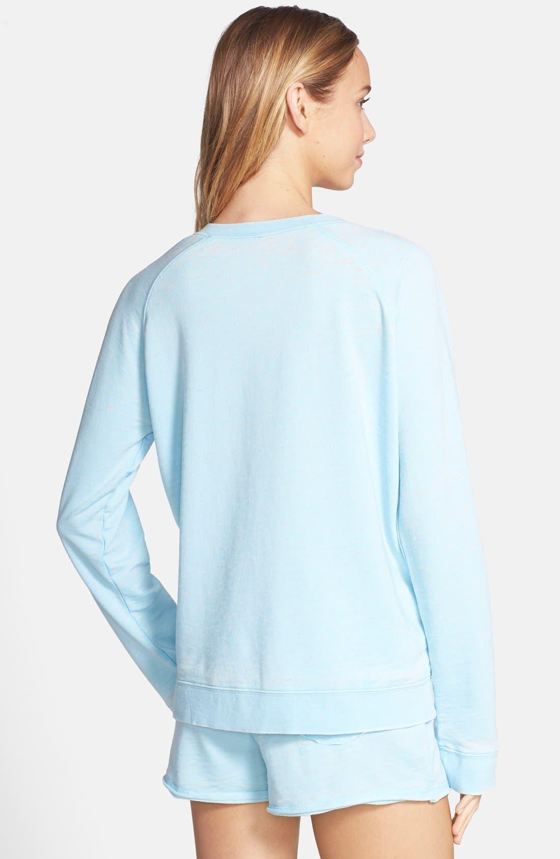 Burnout Lounge Sweatshirt,                             Alternate thumbnail 110, color,