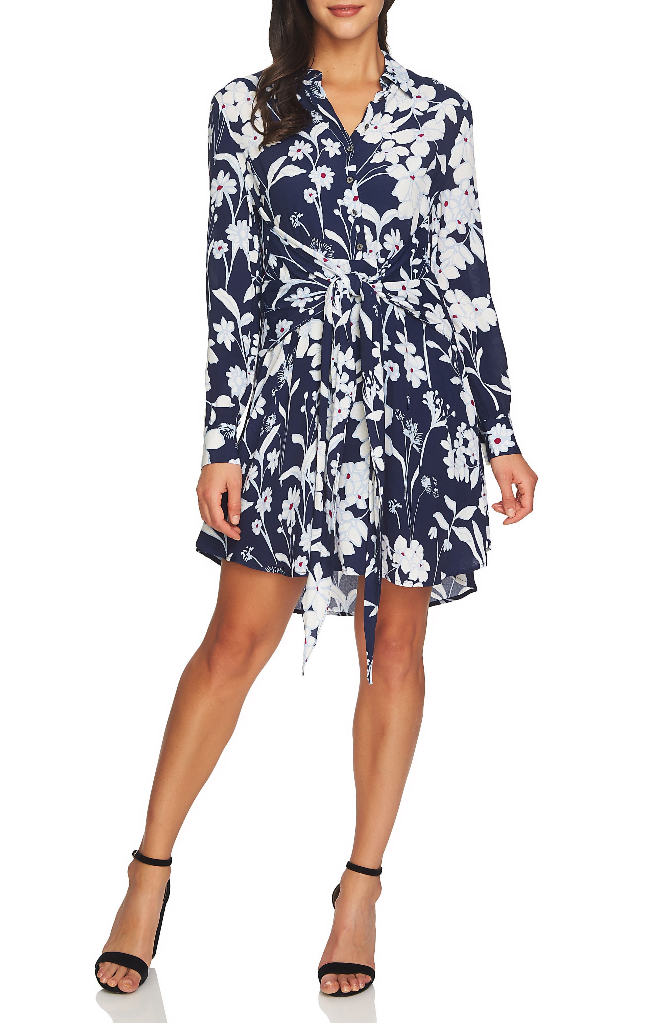 Tie Front Shirtdress,                         Main,                         color, 453