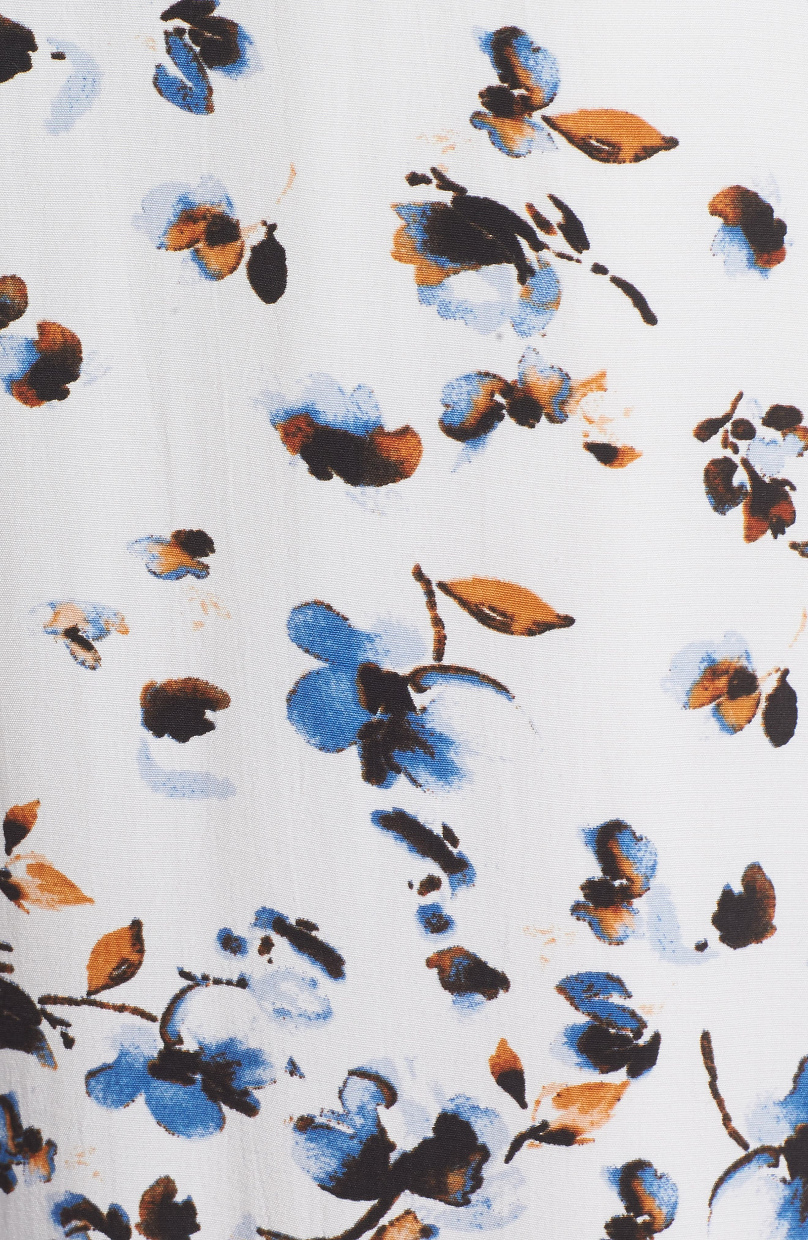 Print Ruffle Maxi Dress,                             Alternate thumbnail 5, color,                             100