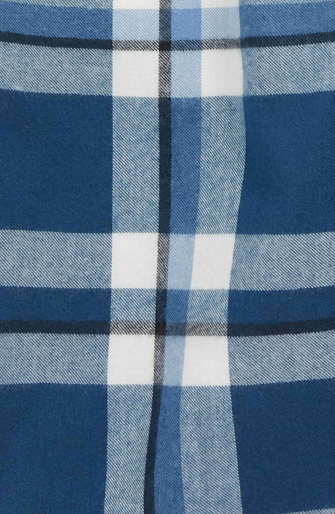 Plaid Flannel Sleep Shorts,                             Alternate thumbnail 2, color,                             BLUE WING- IVORY PLAID