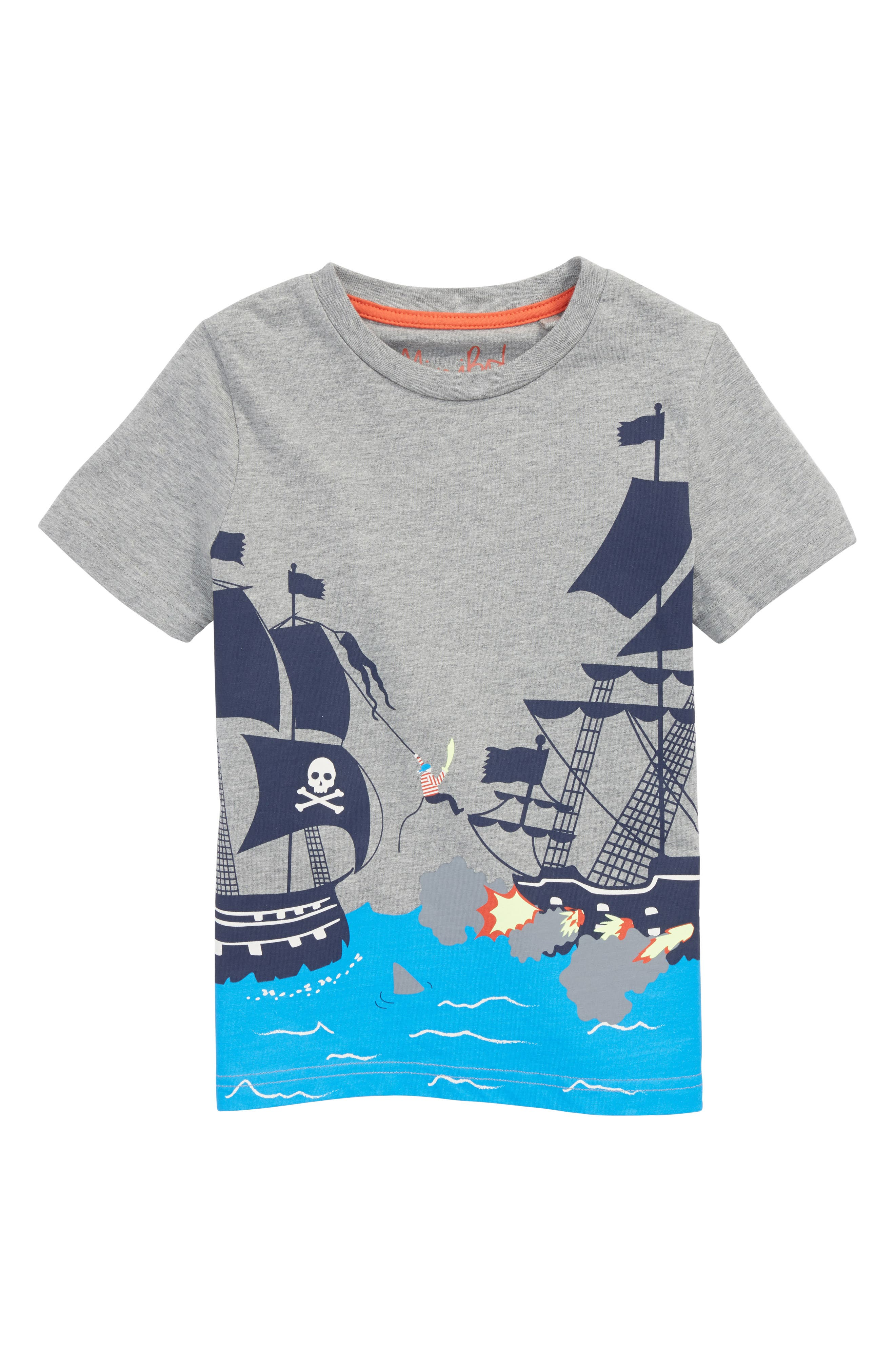 Pirate Warfare T-Shirt,                             Main thumbnail 1, color,                             034