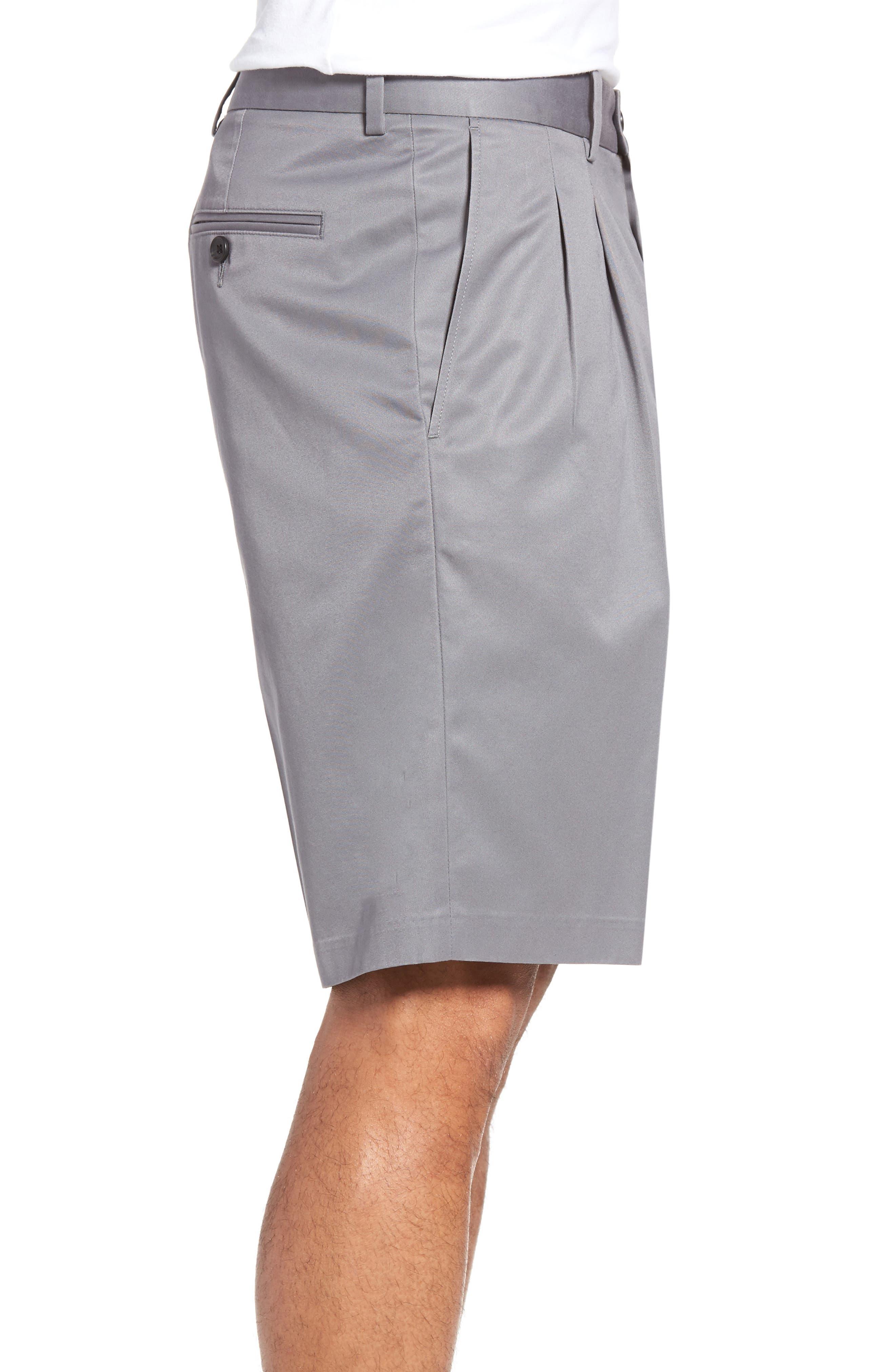 Pleated Supima<sup>®</sup> Cotton Shorts,                             Alternate thumbnail 12, color,