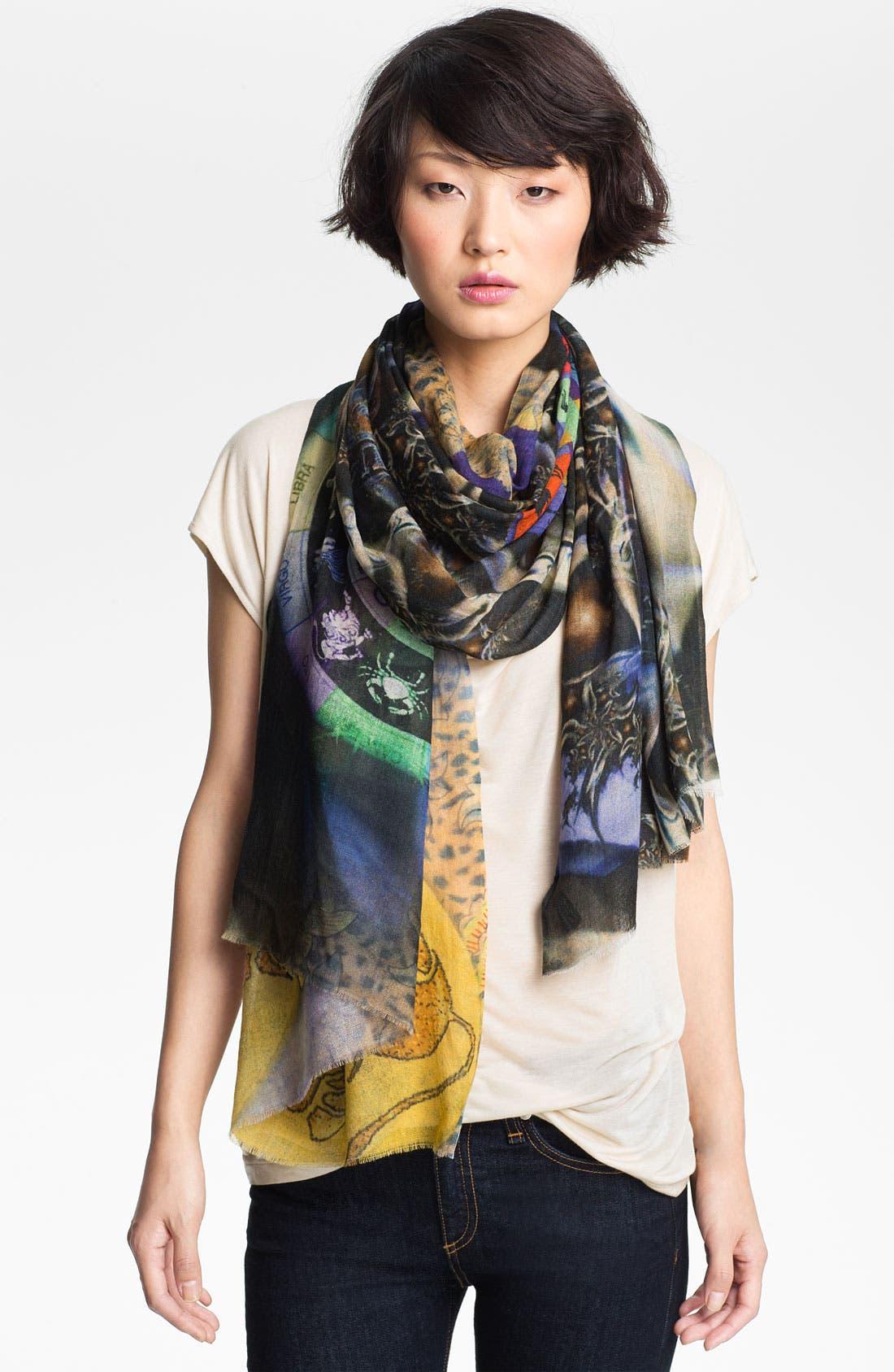 'Capricorn' Cashmere & Silk Scarf,                             Main thumbnail 1, color,                             001