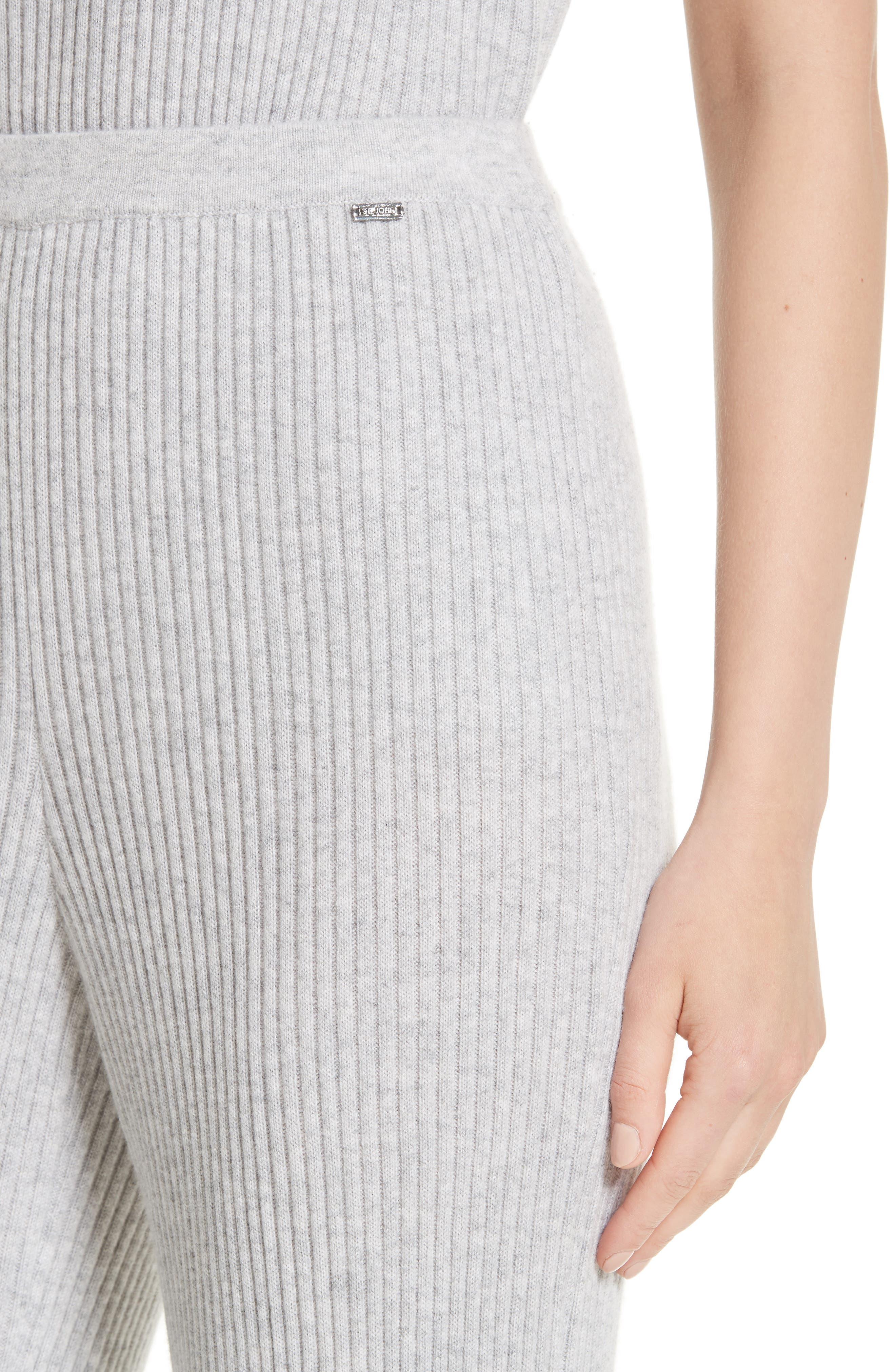 Cashmere Knit Pants,                             Alternate thumbnail 4, color,                             060