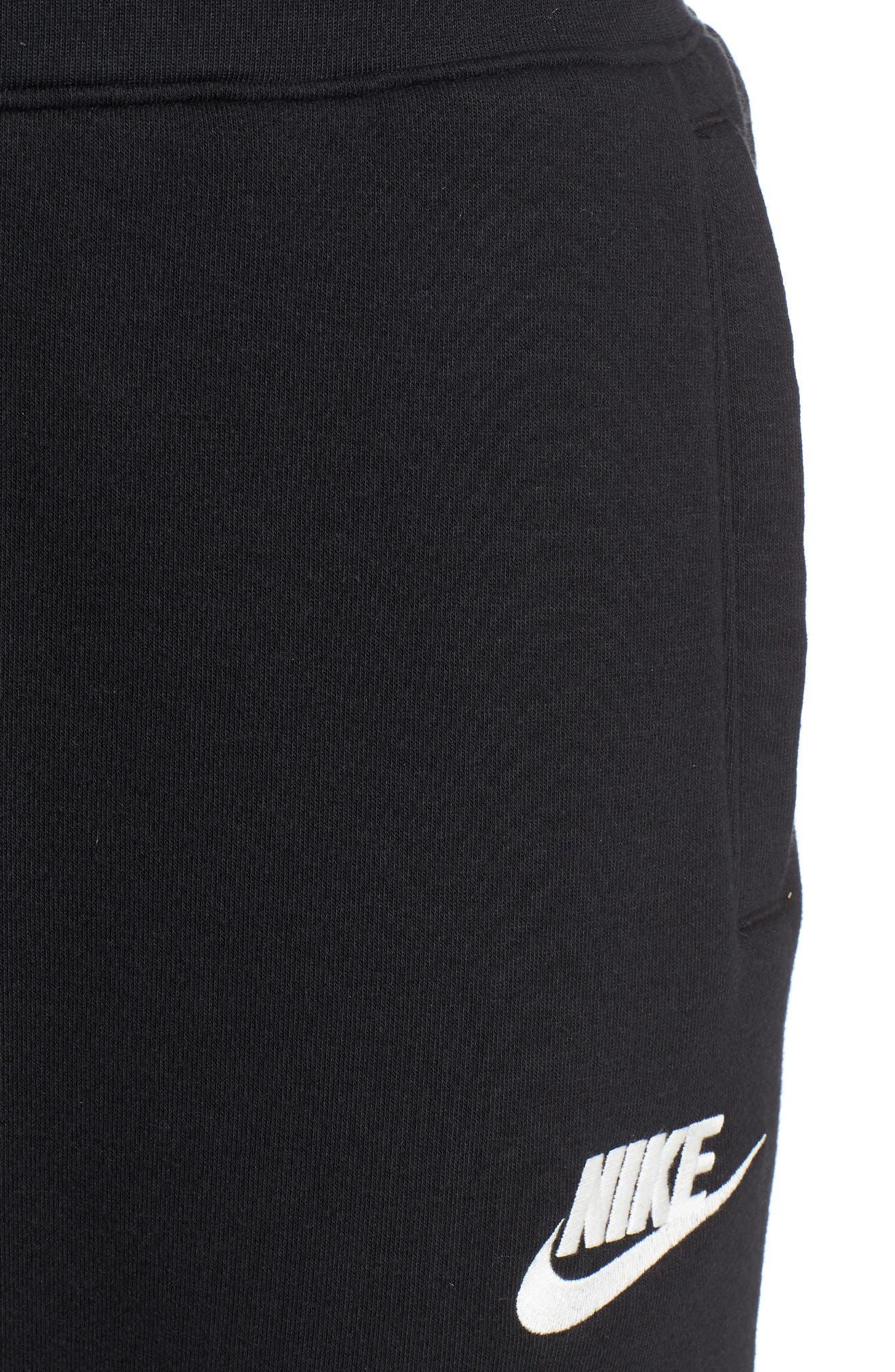 Heritage Jogger Pants,                             Alternate thumbnail 4, color,                             BLACK/ SAIL