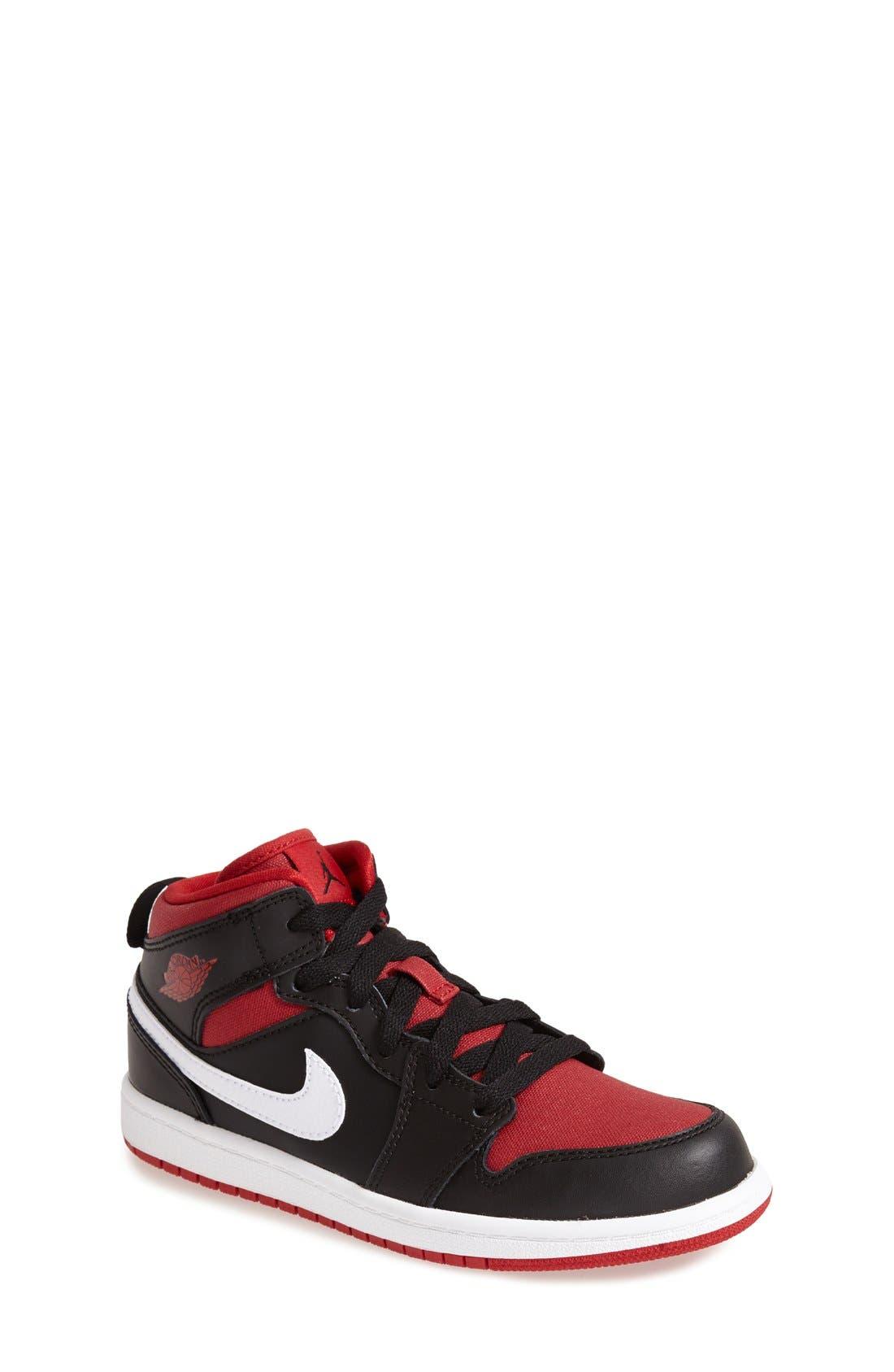 'Air Jordan 1' Mid Sneaker,                             Main thumbnail 1, color,                             003