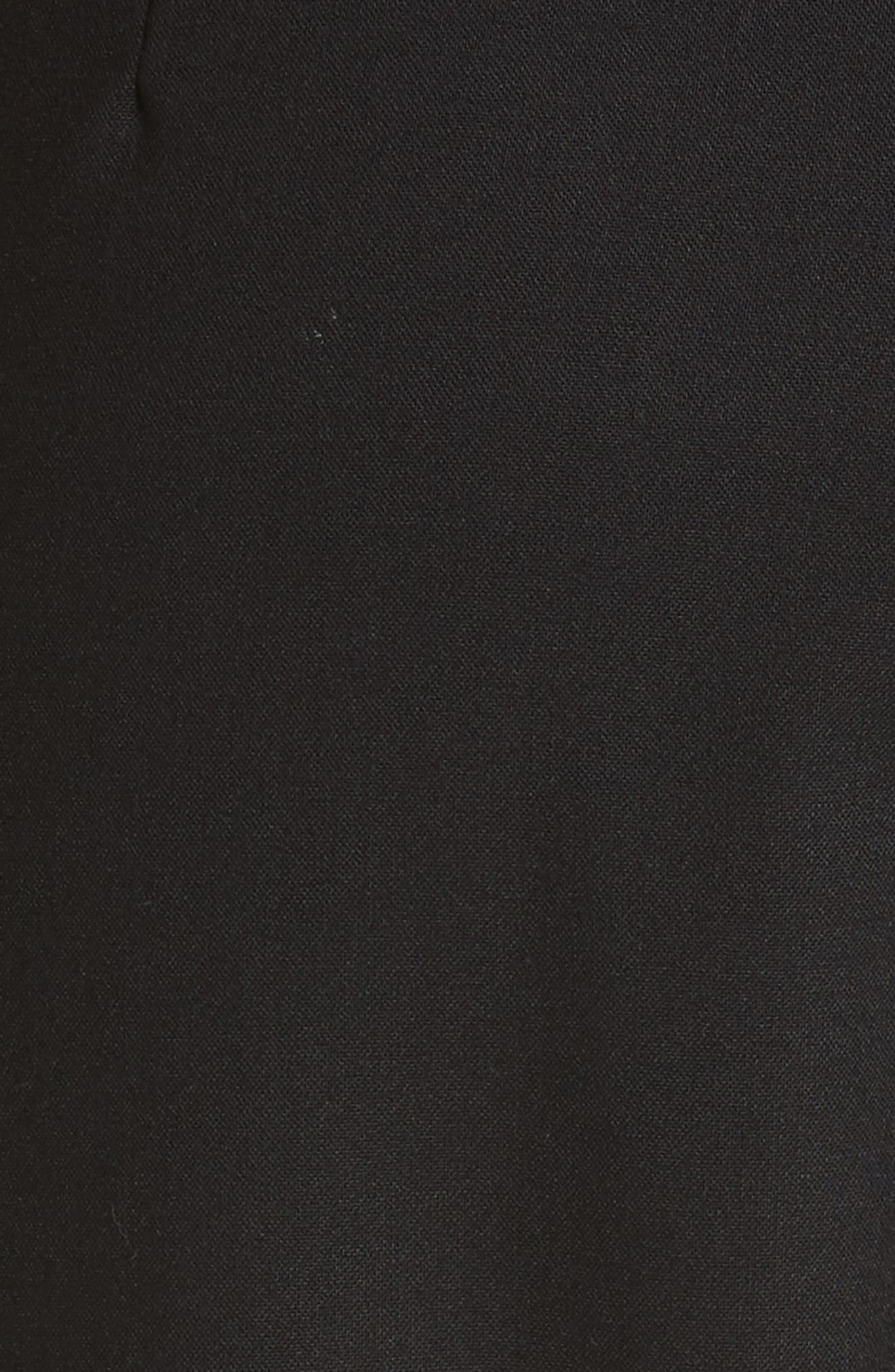 Velvet Stripe Stretch Wool Pants,                             Alternate thumbnail 5, color,                             001