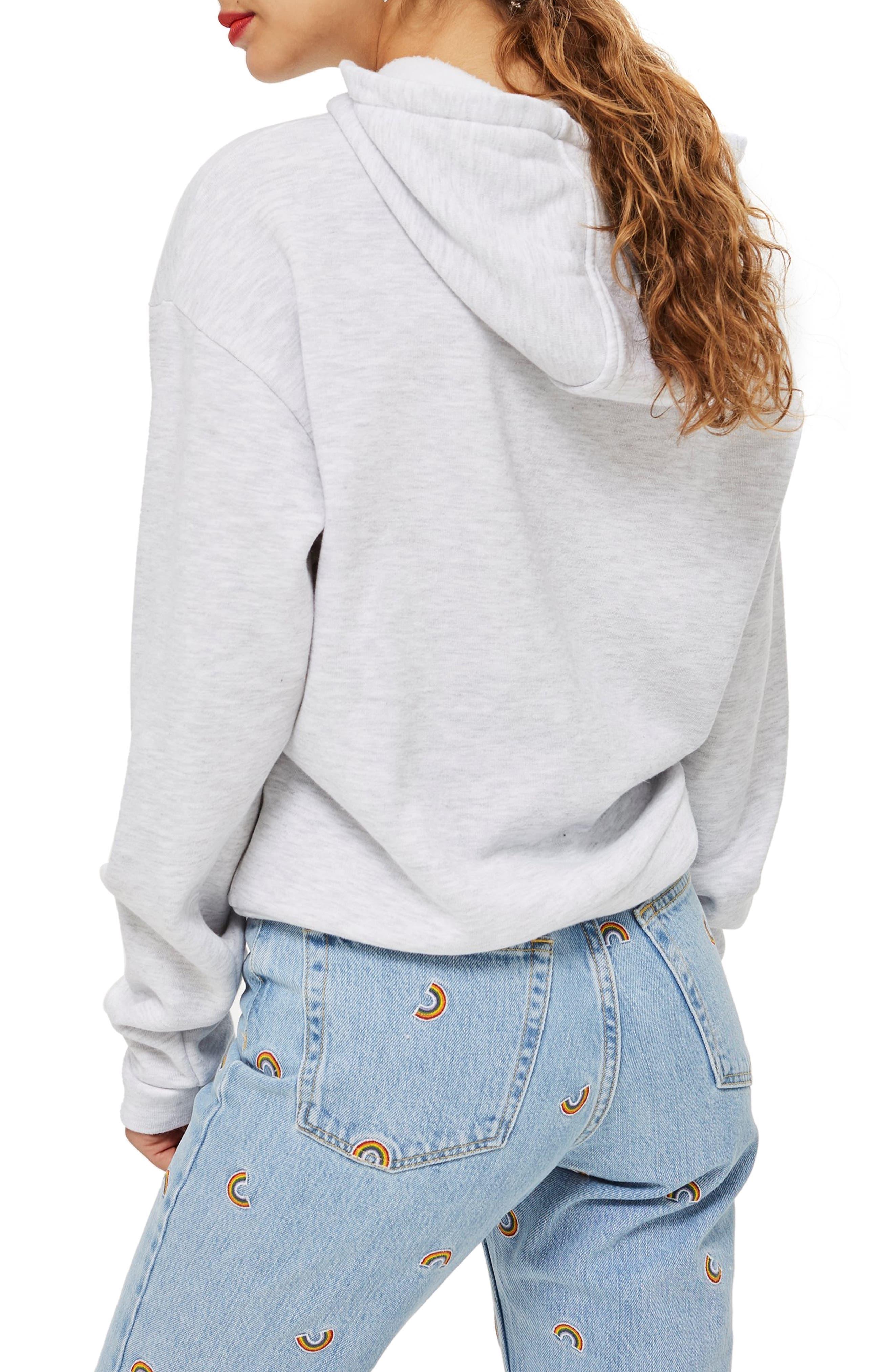 Heart Hoodie Sweatshirt,                             Alternate thumbnail 2, color,                             GREY MARL