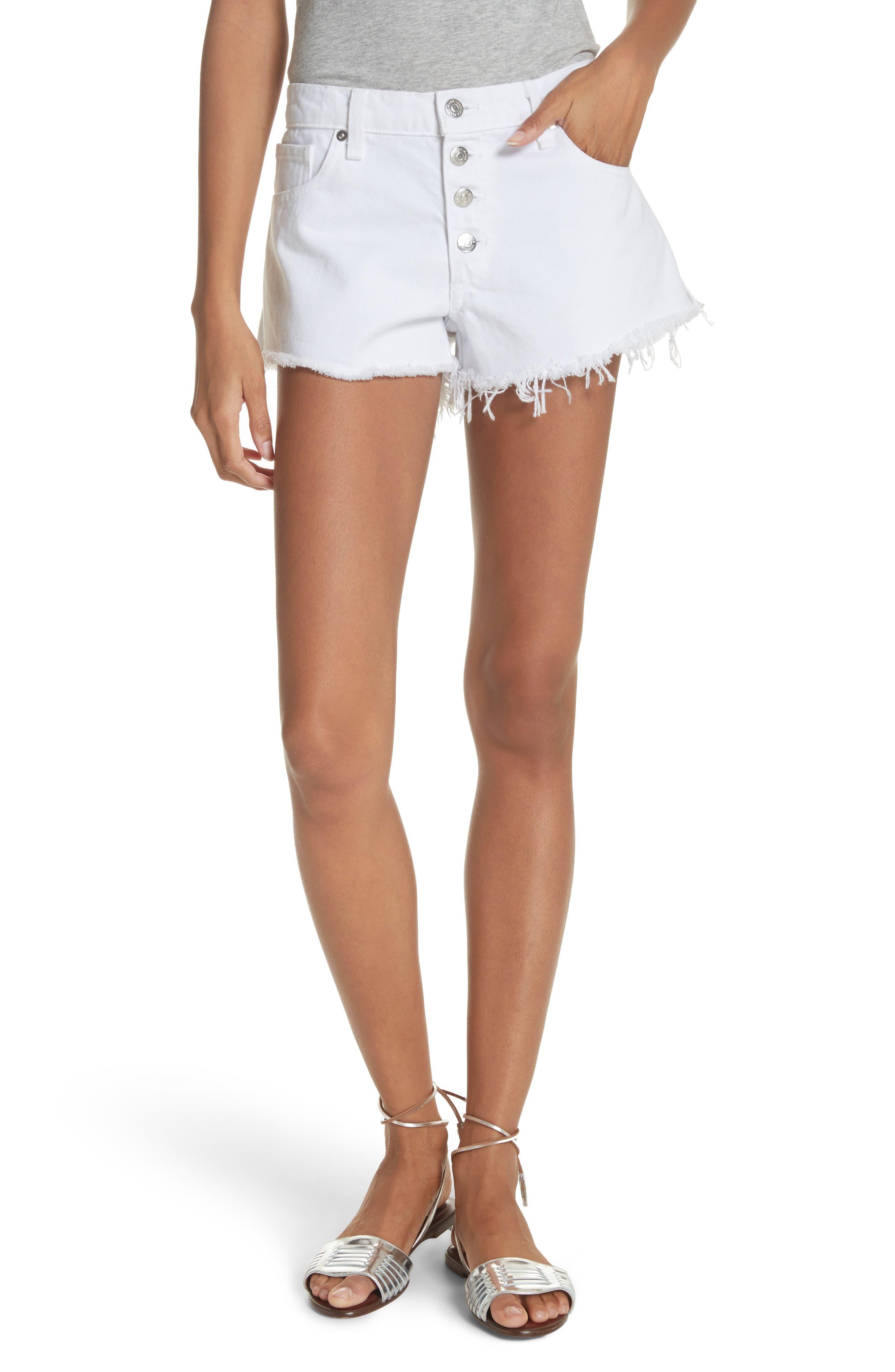 Debbie Denim Shorts,                         Main,                         color, 100