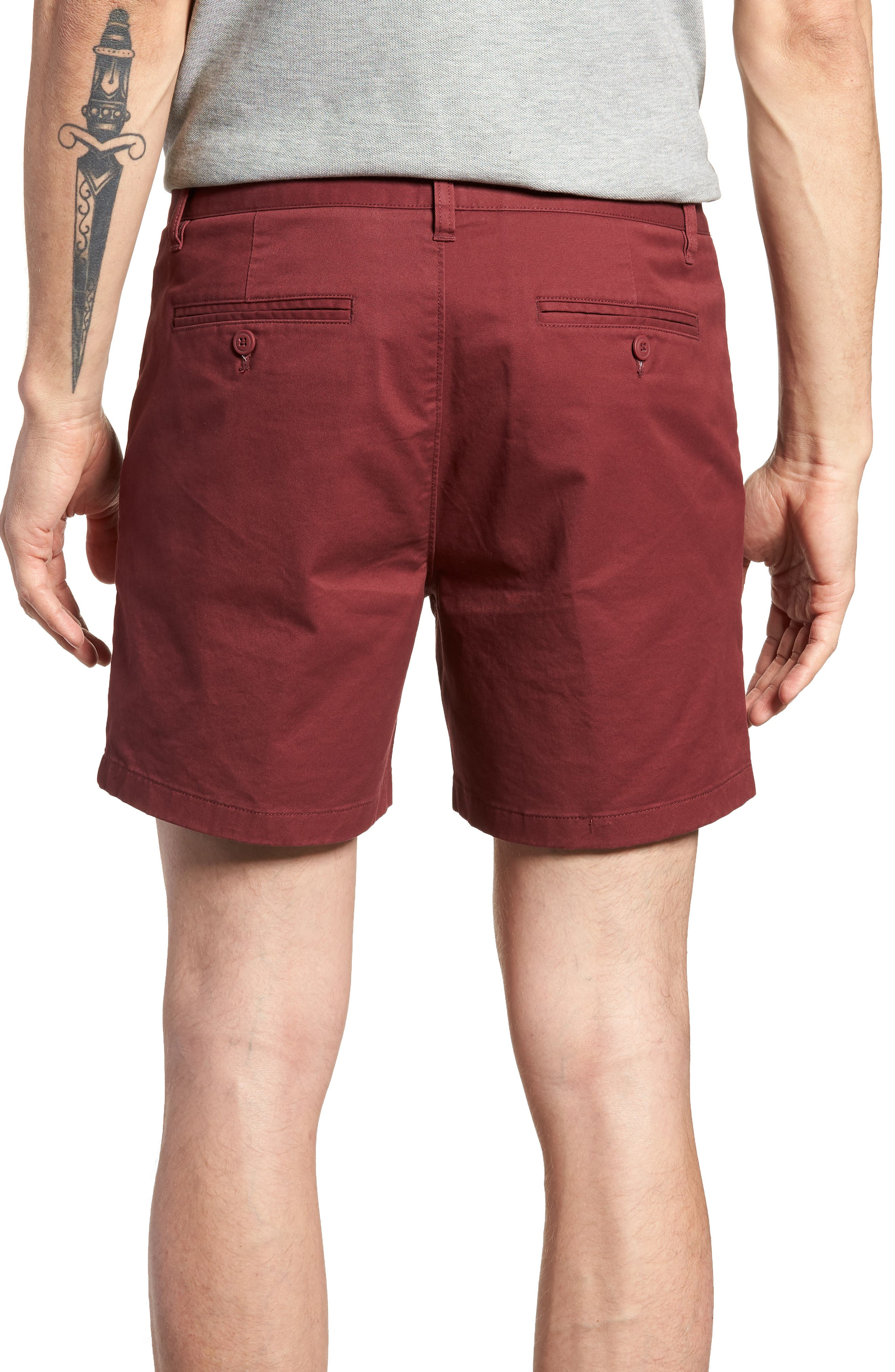 Stretch Washed Chino 5-Inch Shorts,                             Alternate thumbnail 44, color,
