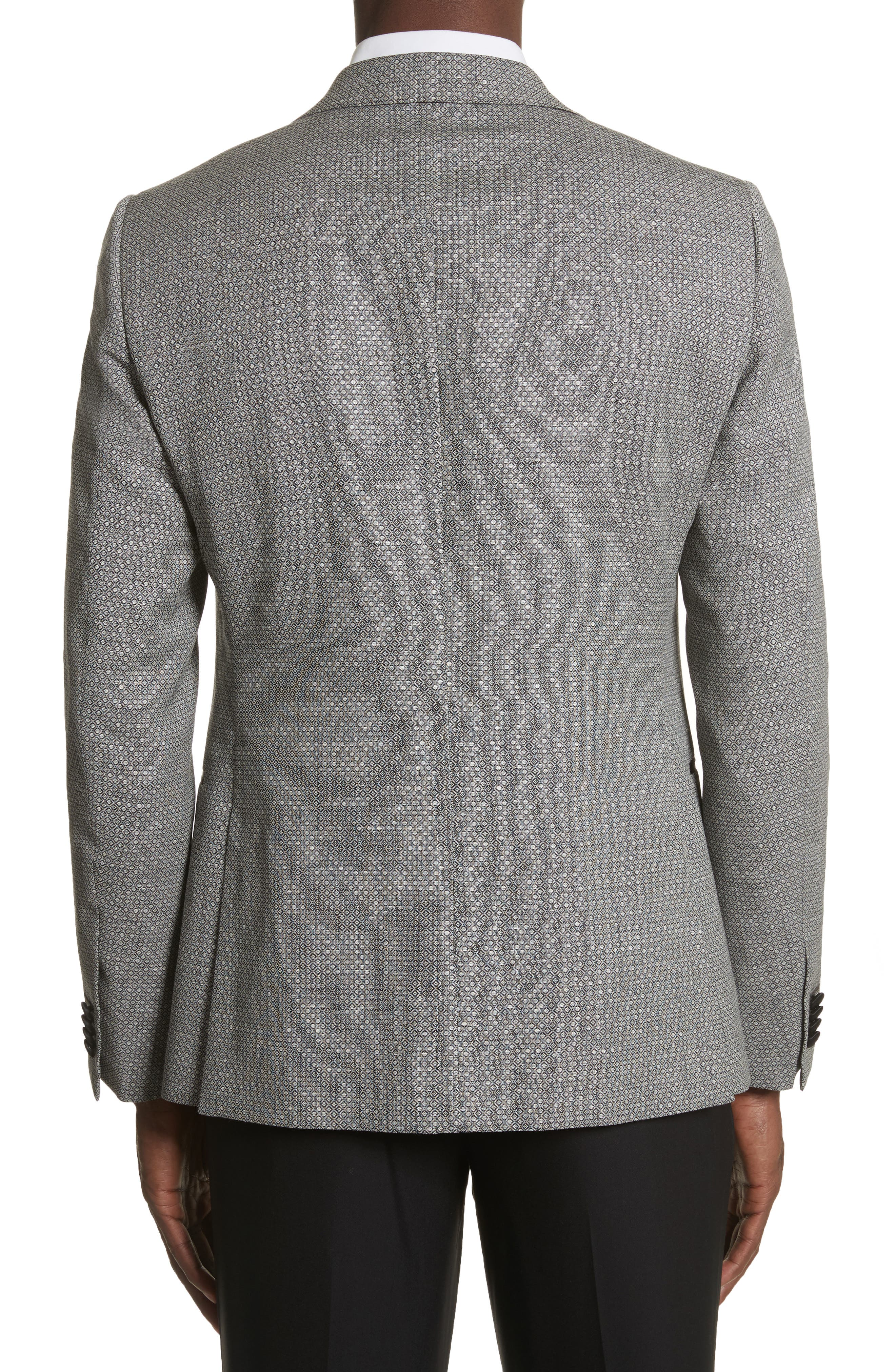 Classic Fit Stretch Wool & Linen Dinner Jacket,                             Alternate thumbnail 2, color,                             026