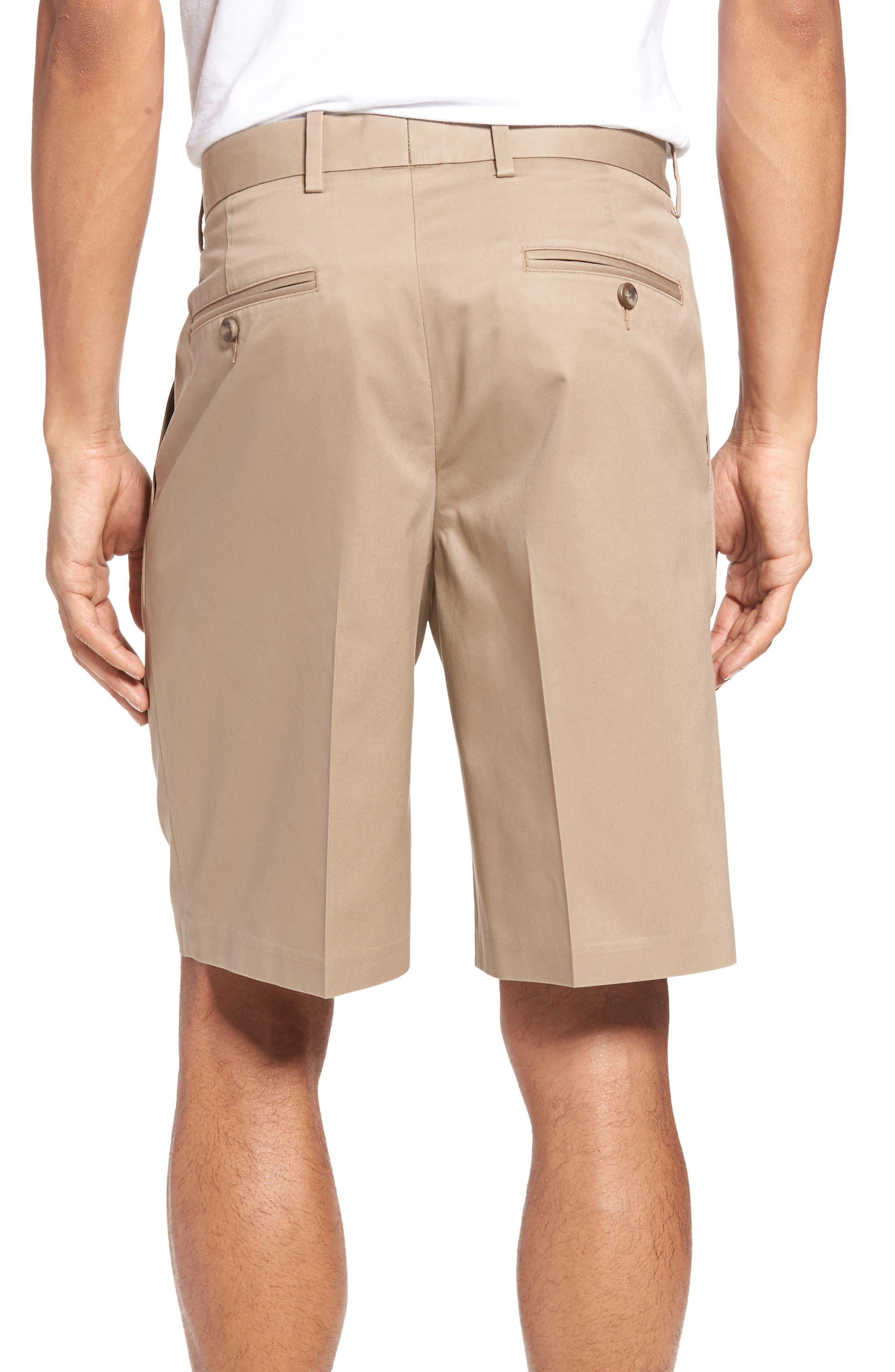 Pleated Supima<sup>®</sup> Cotton Shorts,                             Alternate thumbnail 8, color,