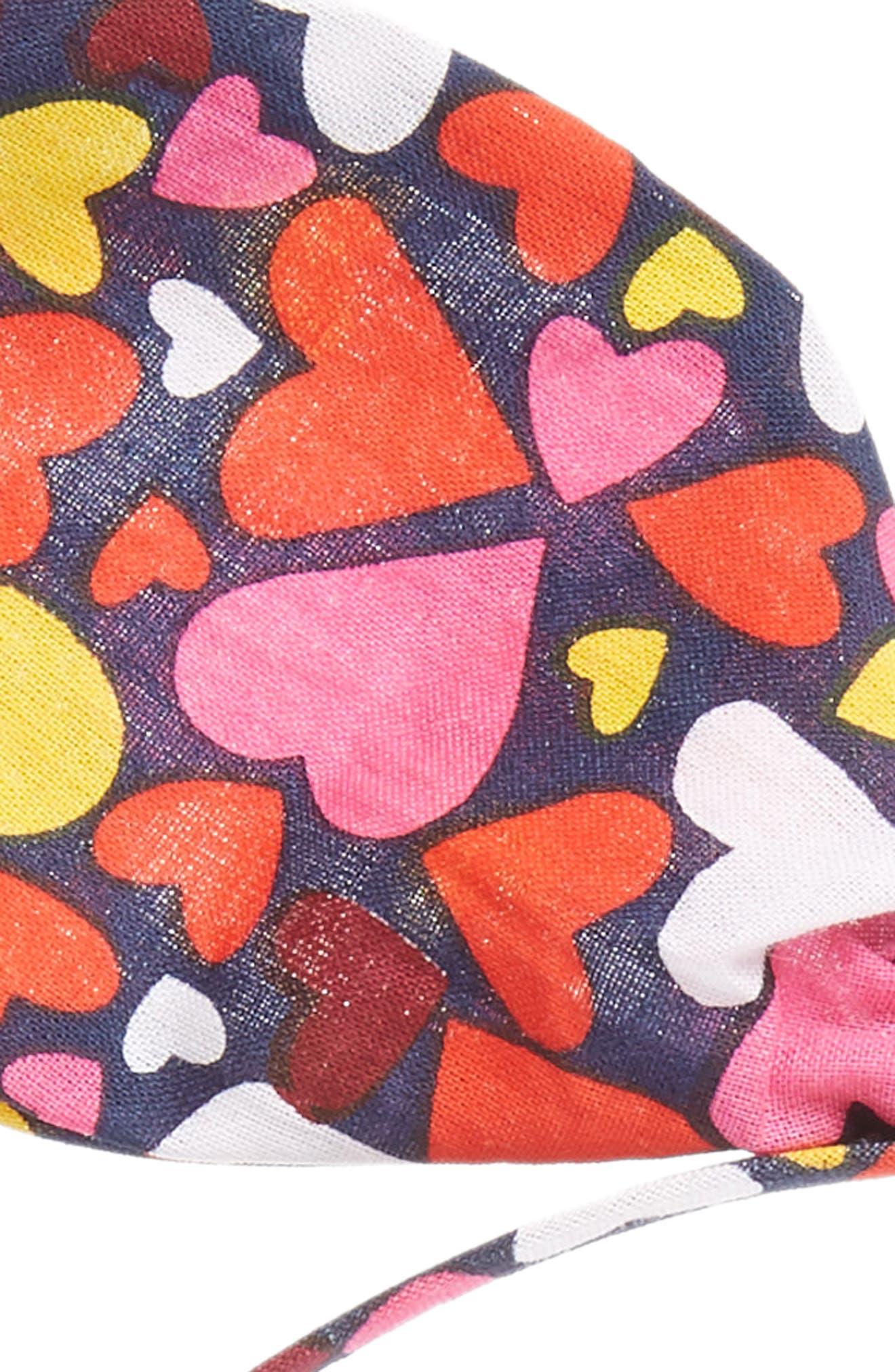 Bow Headband,                             Alternate thumbnail 2, color,                             NAVY DENIM MULTI HEARTS