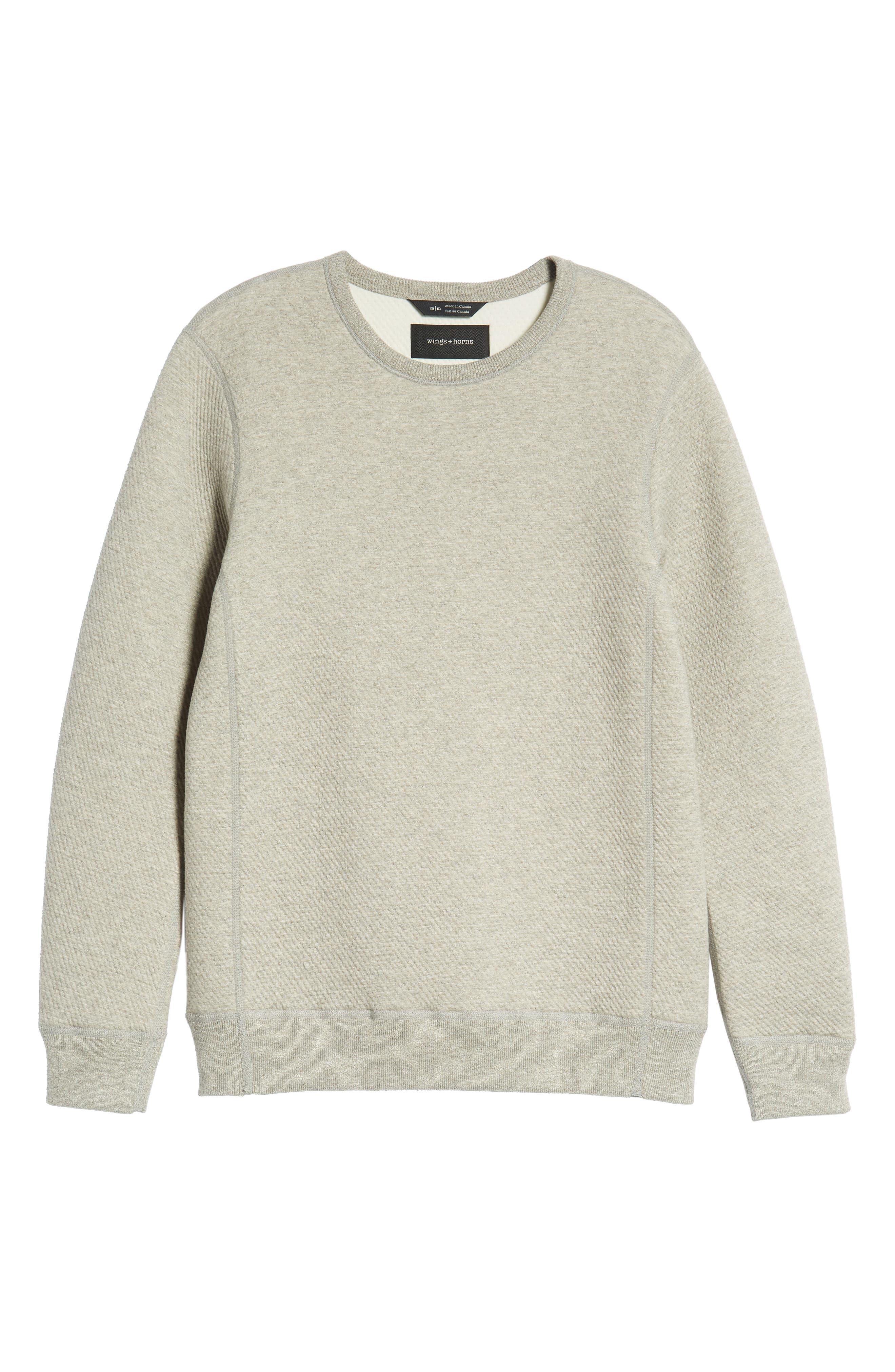 Cabin Fleece Sweatshirt,                             Alternate thumbnail 6, color,                             CONCRETE