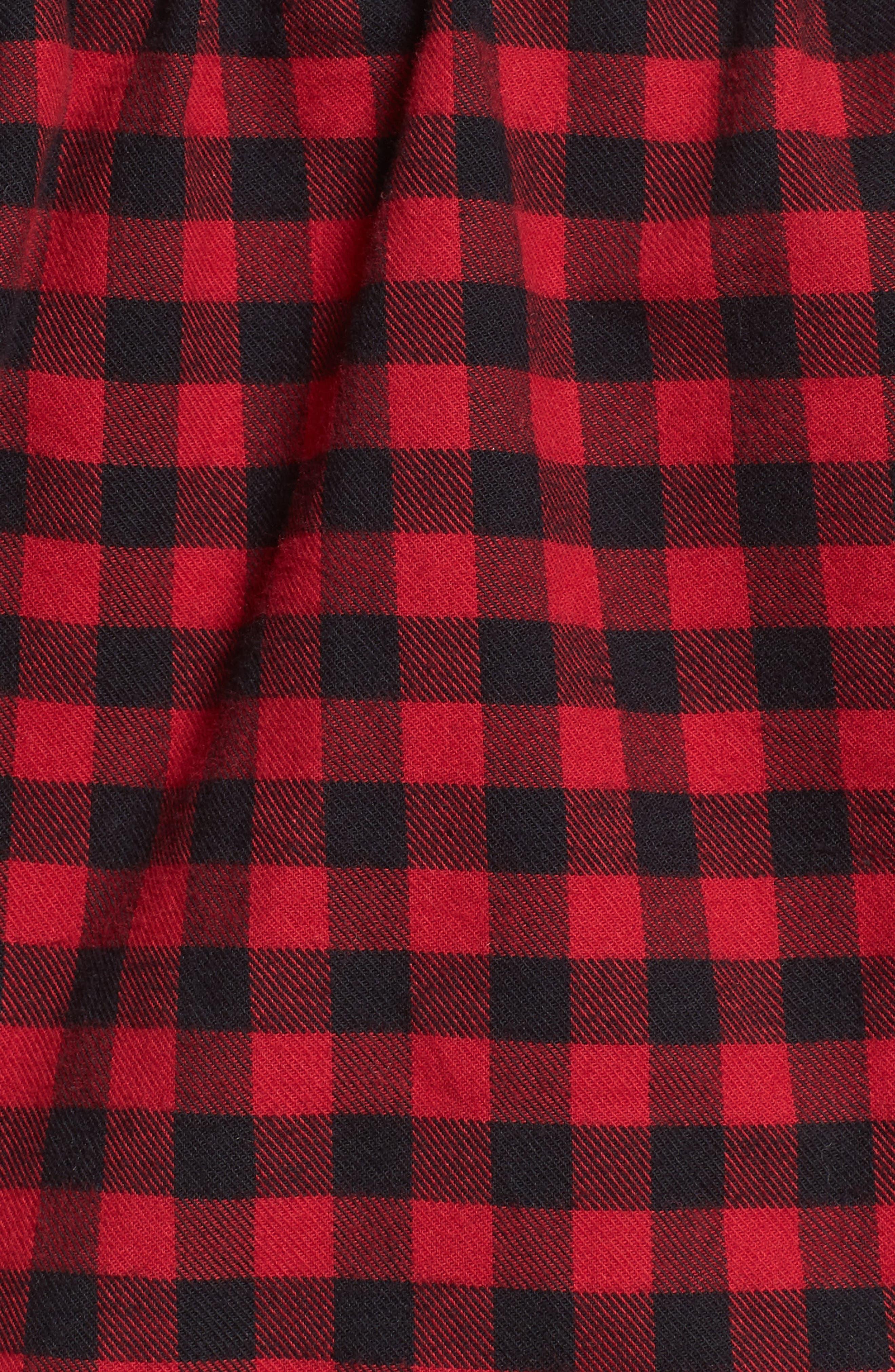 Plaid Off the Shoulder Crop Top,                             Alternate thumbnail 5, color,                             600