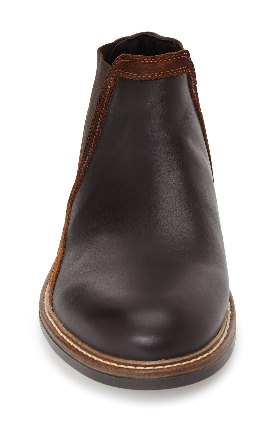 Business Chelsea Boot,                             Alternate thumbnail 3, color,                             ROAST/SADDLE/ SEAL BROWN SUEDE