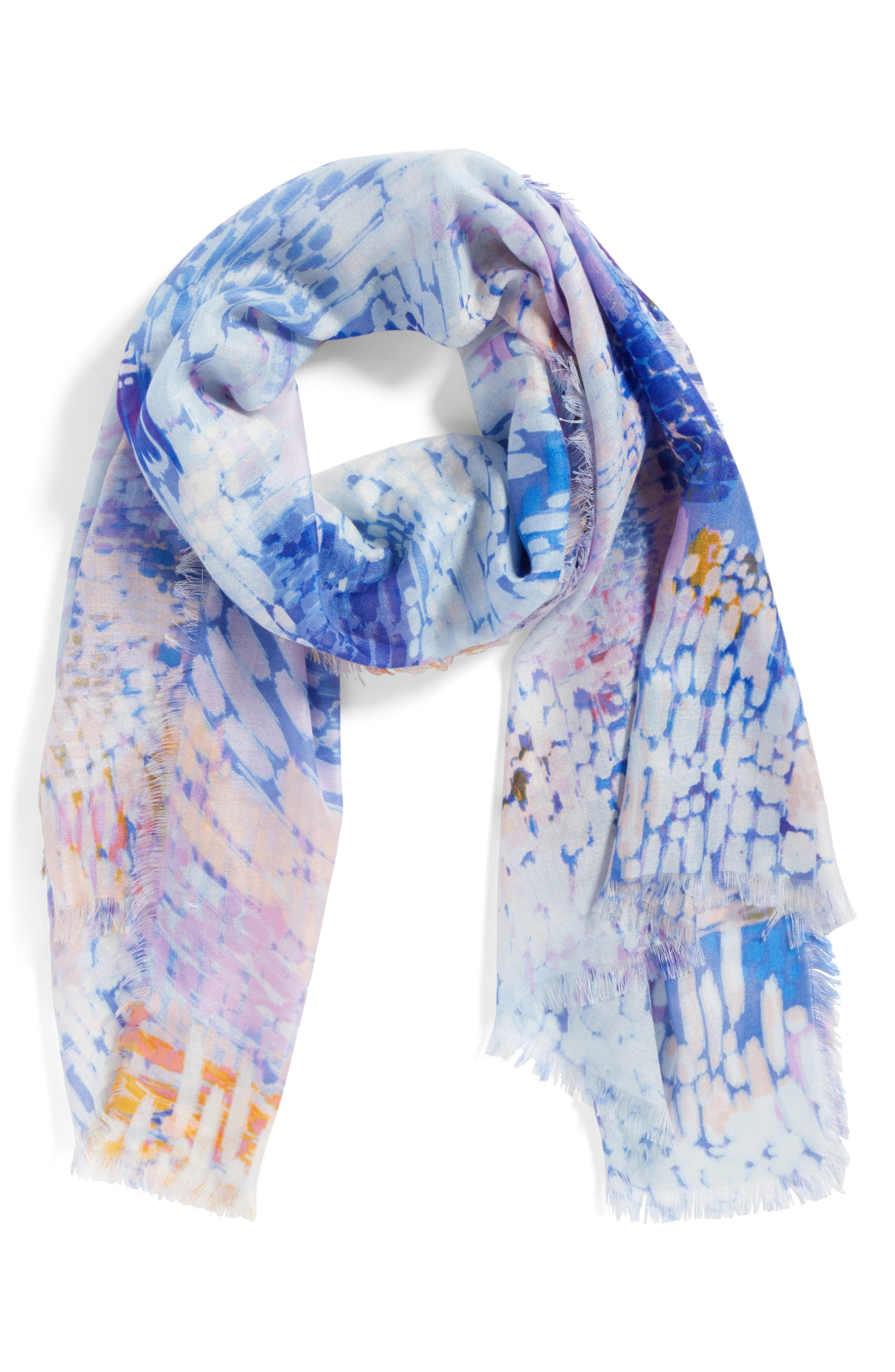 Eyelash Trim Print Cashmere & Silk Wrap,                             Alternate thumbnail 53, color,