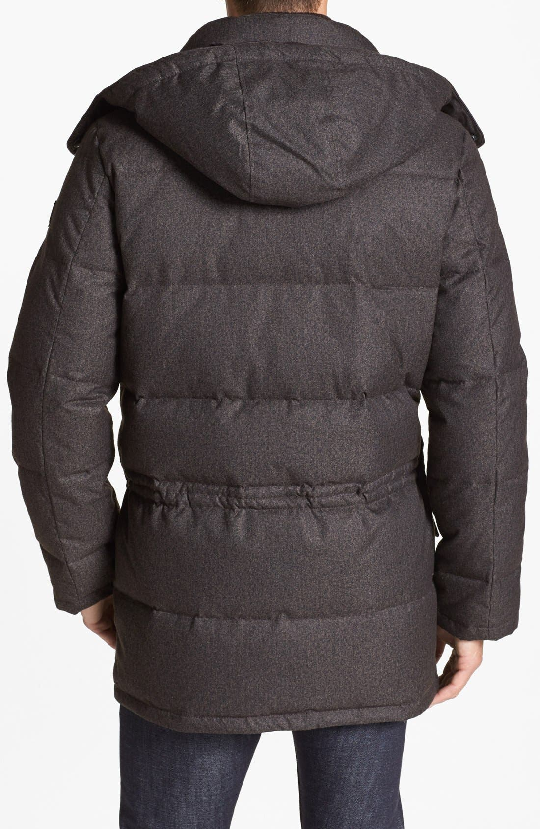 680-Down Fill Quilted Hooded Parka,                             Alternate thumbnail 9, color,