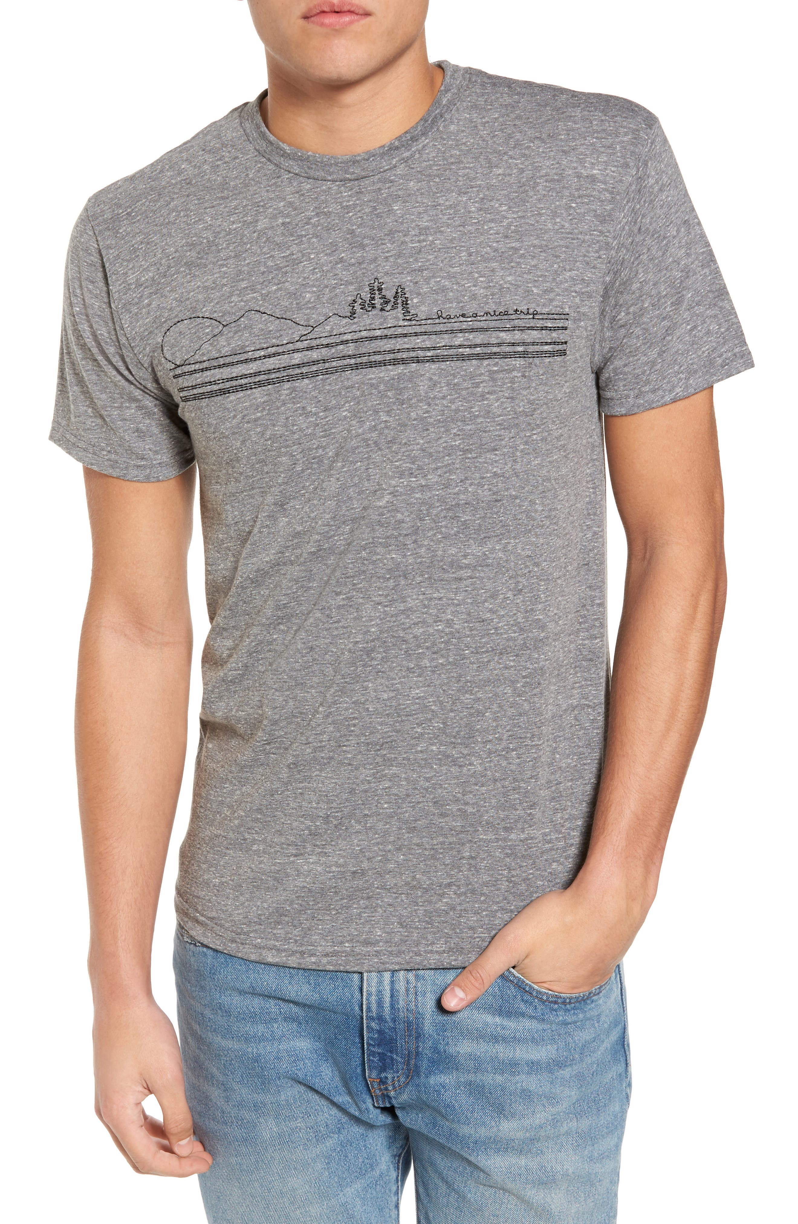 Have a Nice Trip Embroidered T-Shirt,                         Main,                         color, 034