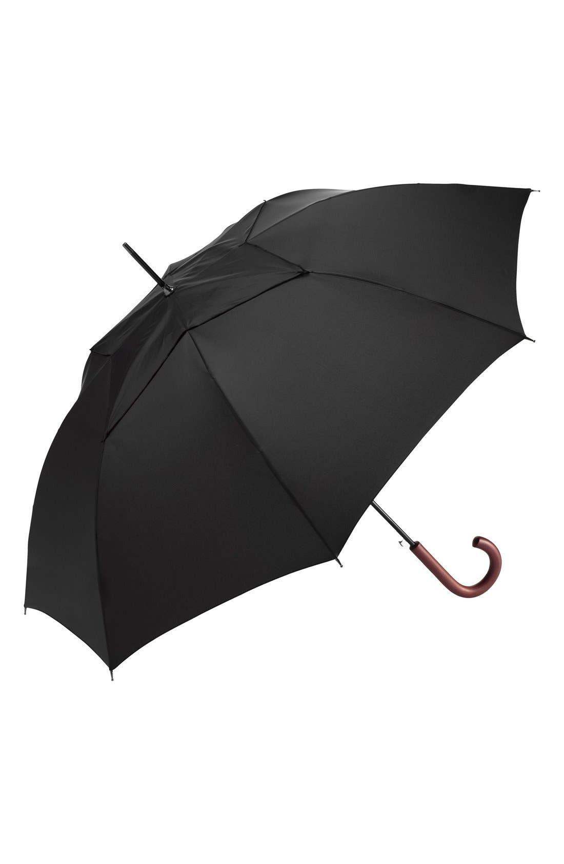 'WindPro<sup>®</sup>' Auto Open & Close Umbrella,                             Main thumbnail 1, color,                             BLACK