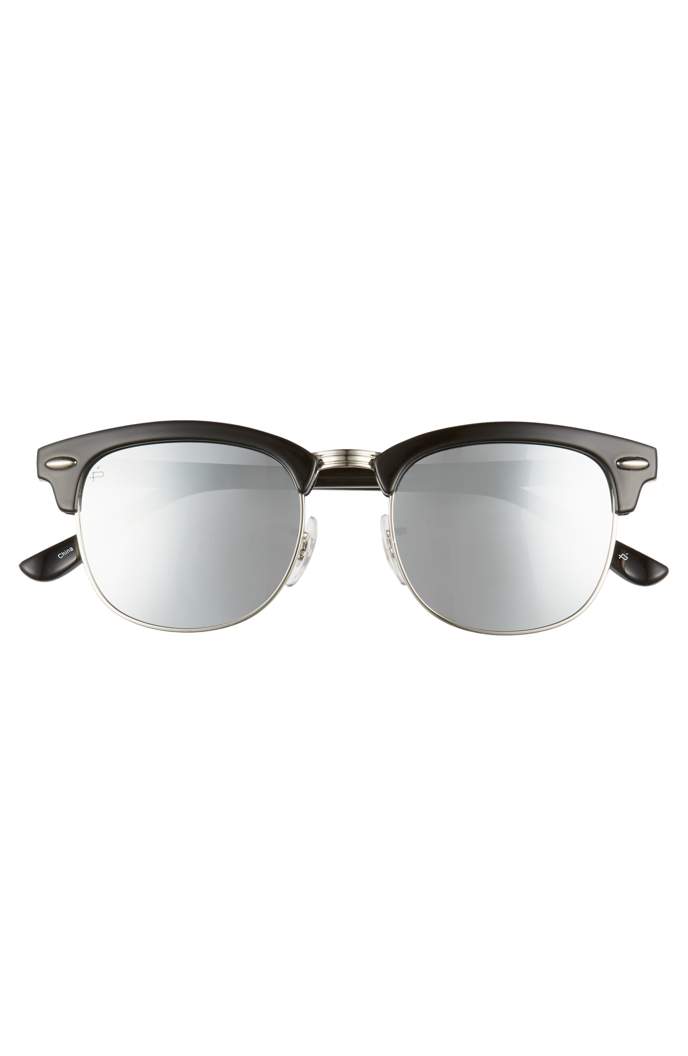 Privé Revaux The Chairman 52mm Polarized Browline Sunglasses,                             Alternate thumbnail 3, color,