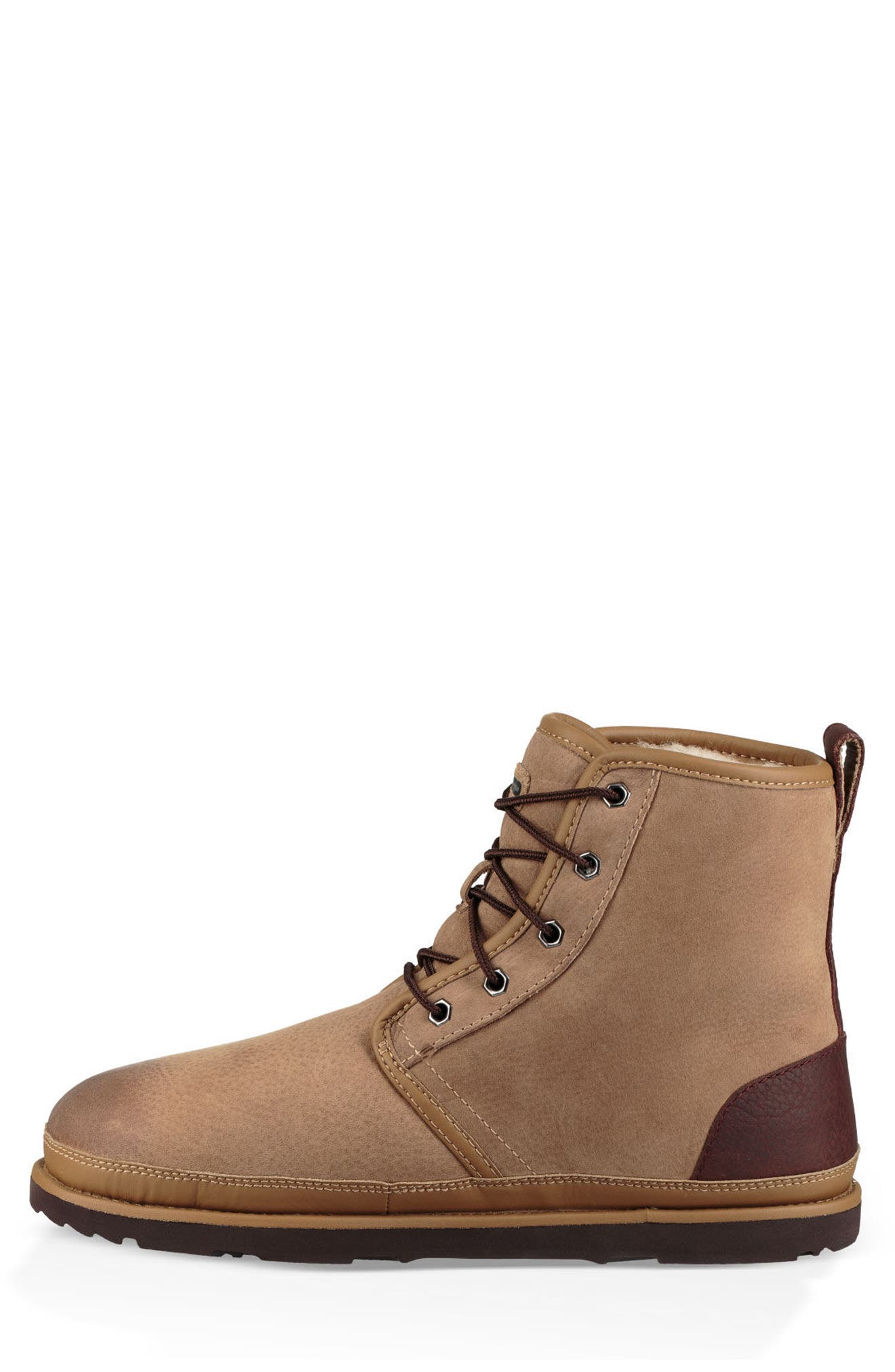 Harkley Waterproof Lace-Up Boot,                             Alternate thumbnail 3, color,                             DESERT TAN