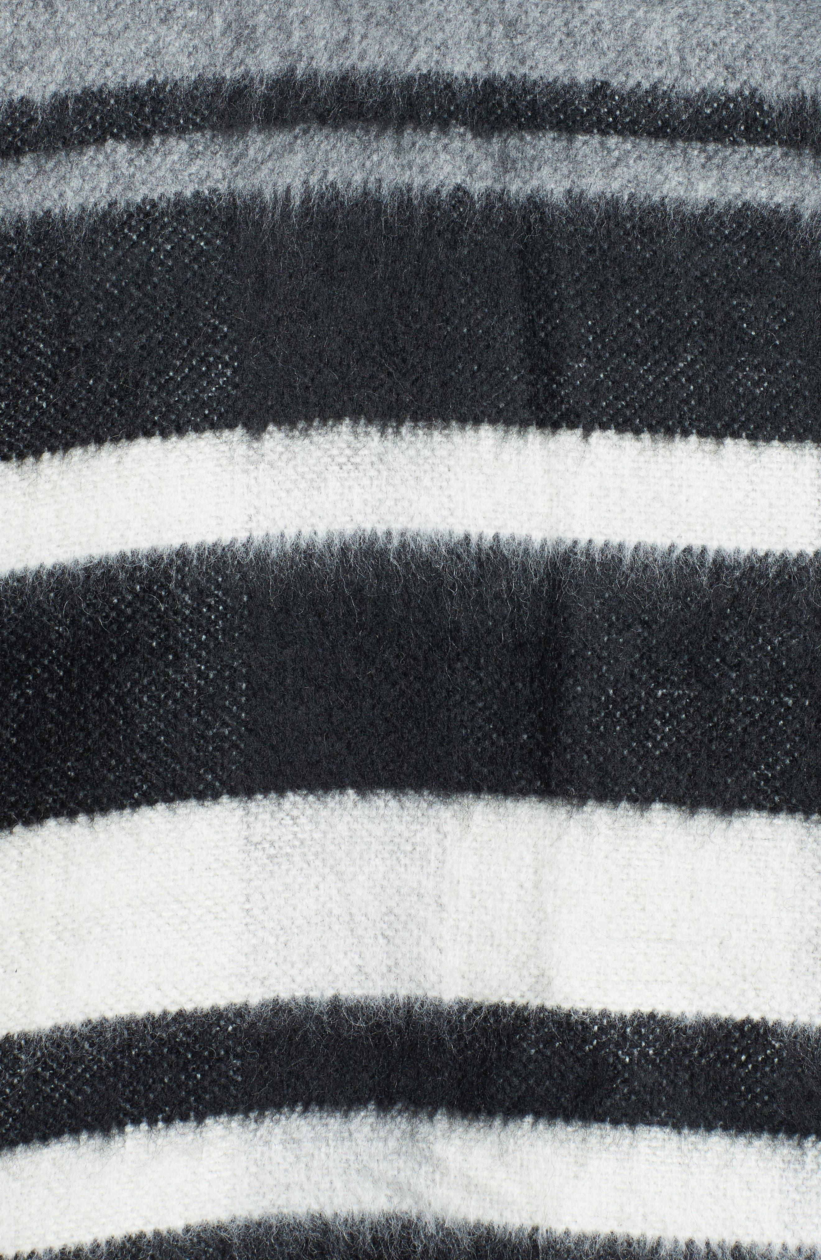 Accessory Collective Stripe Ruana,                             Alternate thumbnail 5, color,                             001