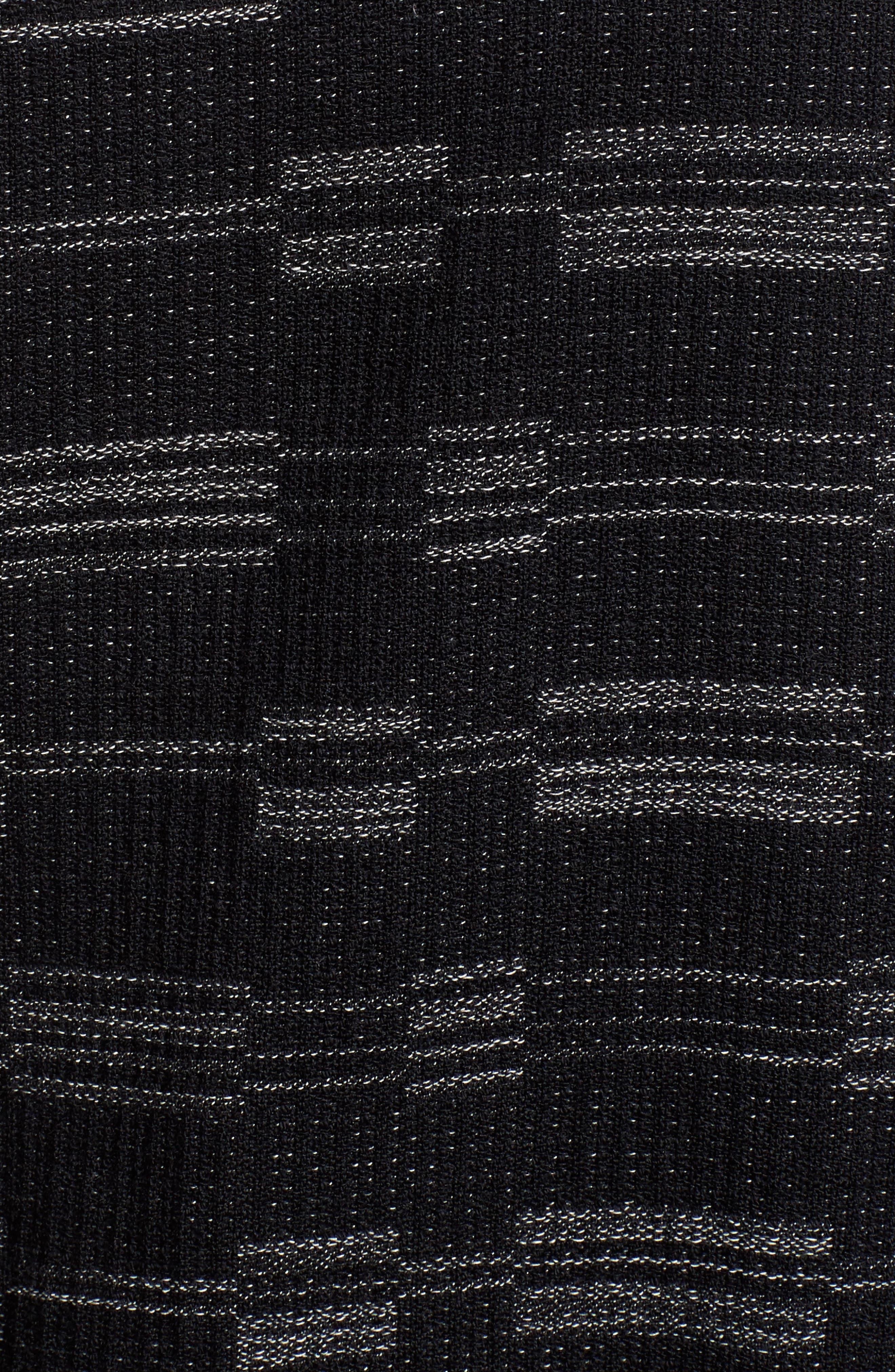 Organic Cotton Blend Tweed Jacket,                             Alternate thumbnail 6, color,                             001