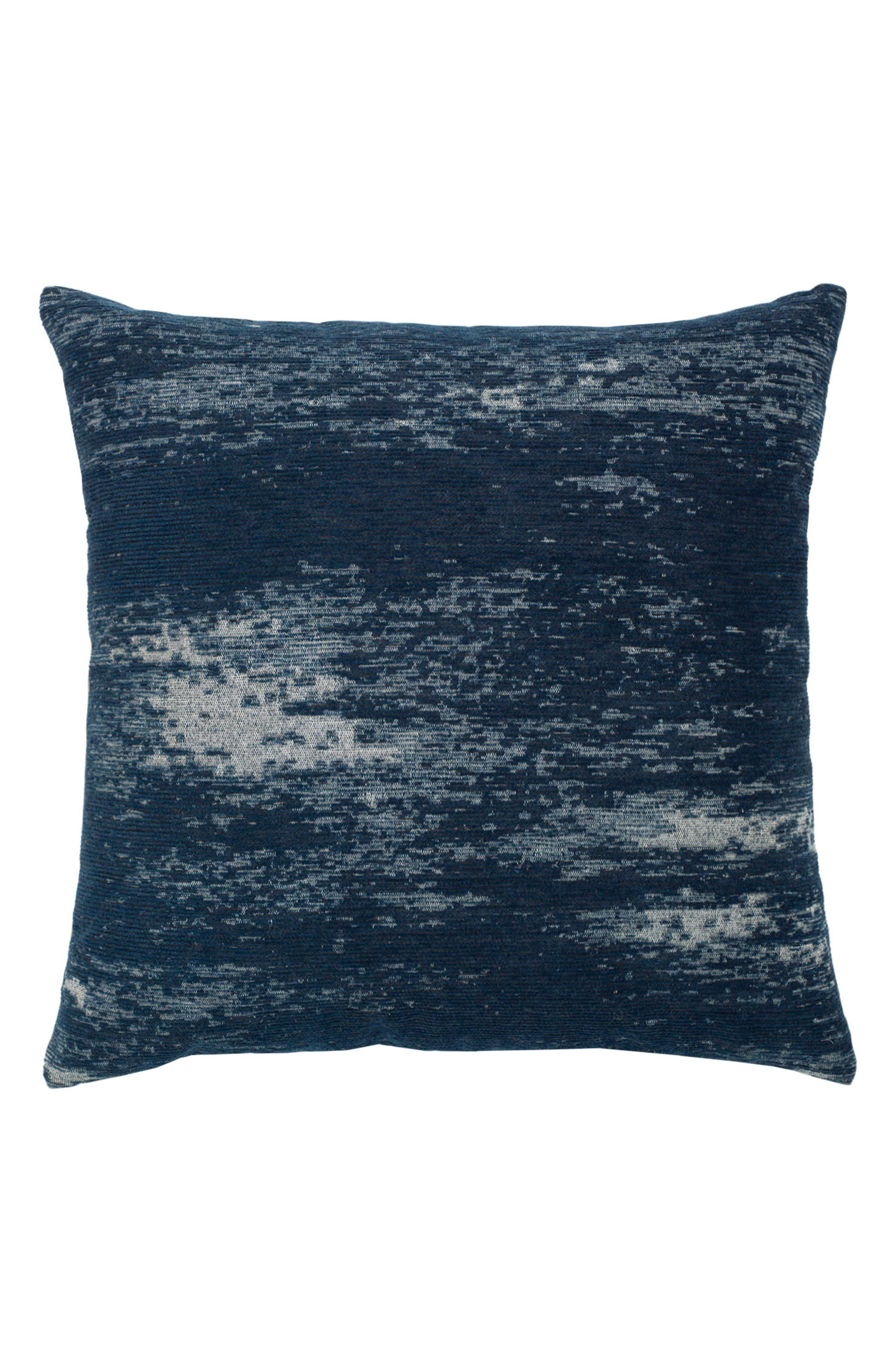 Distressed Indigo Indoor/Outdoor Accent Pillow,                             Main thumbnail 1, color,                             400