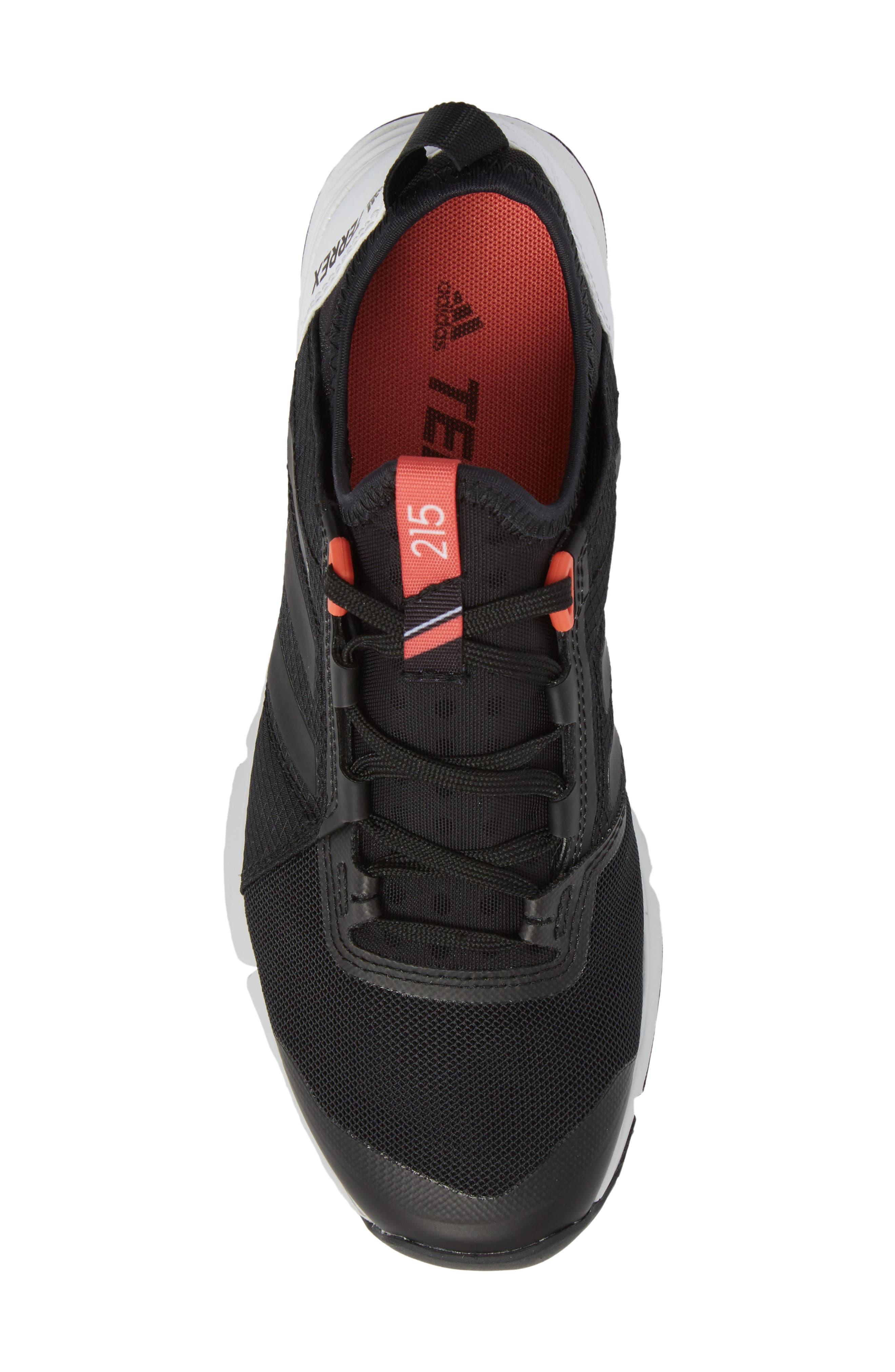 ADIDAS,                             Terrex Agravic Speed Running Shoe,                             Alternate thumbnail 5, color,                             BLACK/ WHITE