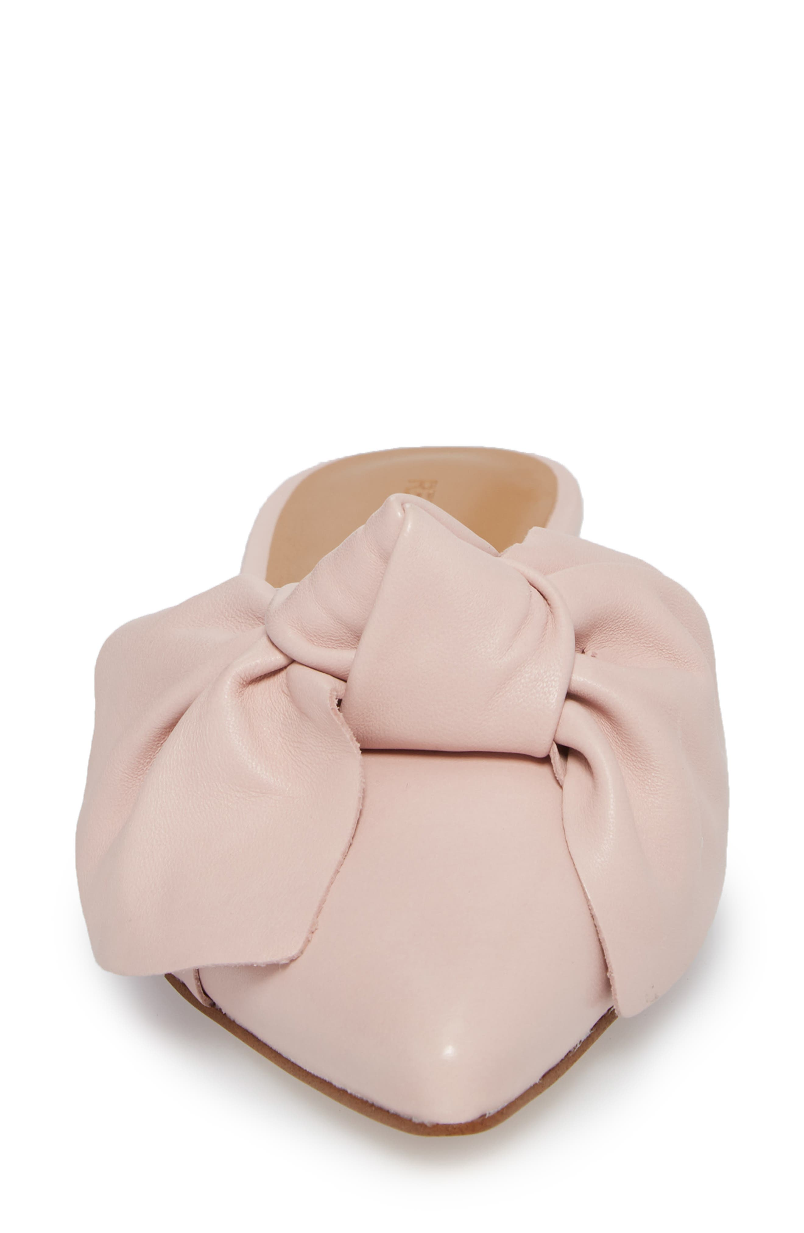 Alexis Bow Mule,                             Alternate thumbnail 4, color,                             MILLENNIAL PINK LEATHER