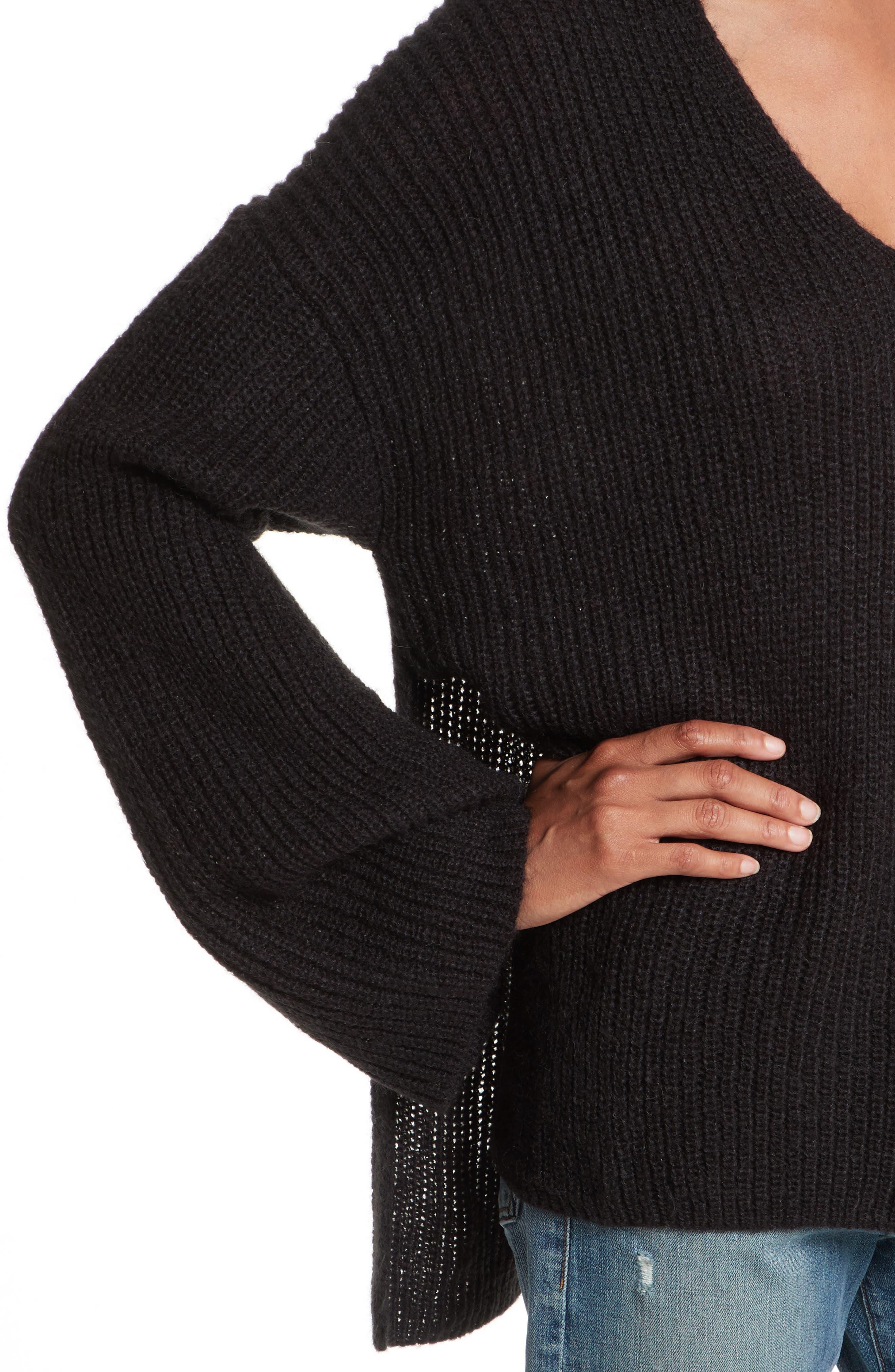 Remi Oversize Sweater,                             Alternate thumbnail 4, color,                             001