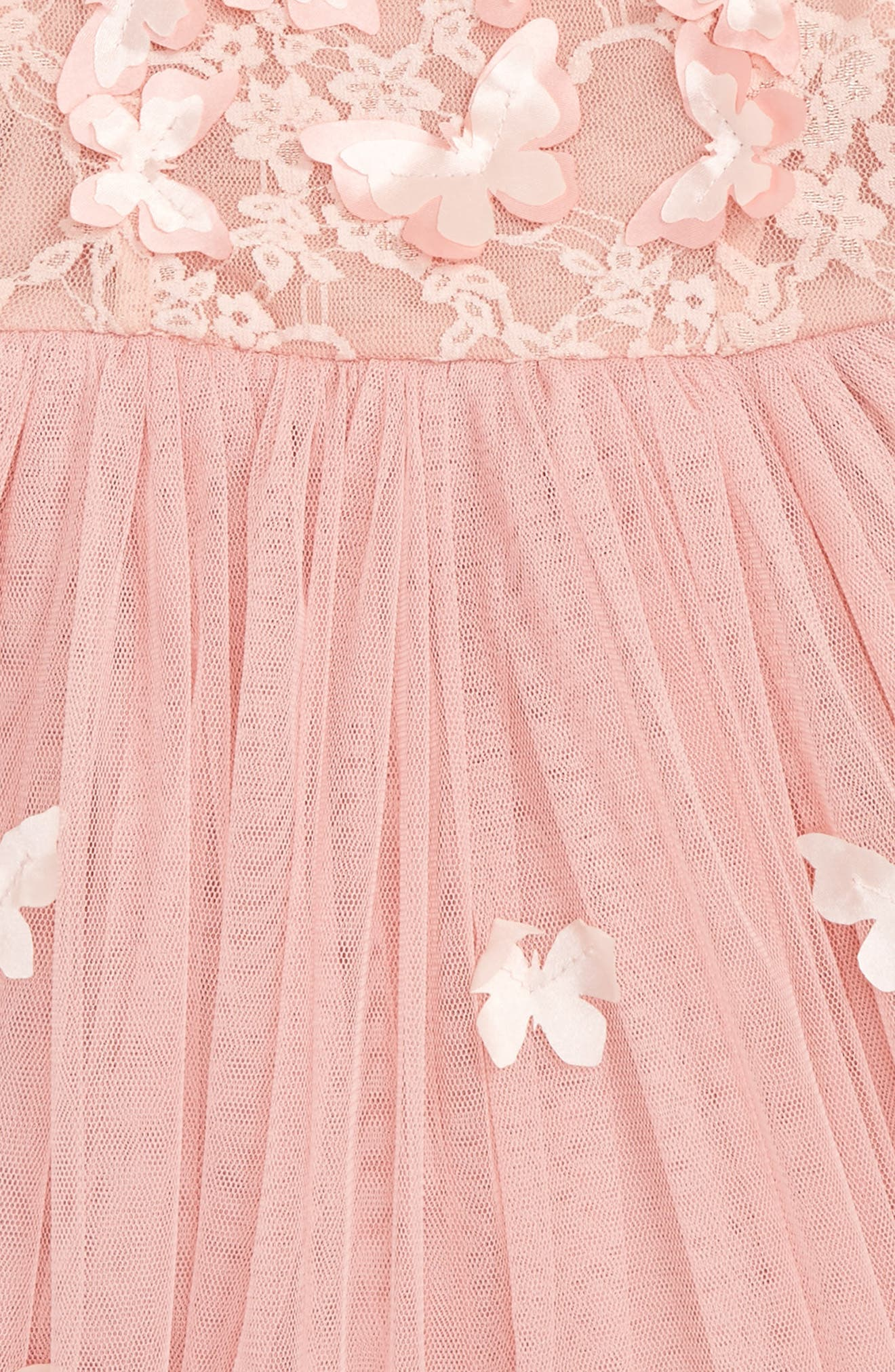 Butterfly Sleeveless Dress,                             Alternate thumbnail 2, color,                             DUSTY PINK