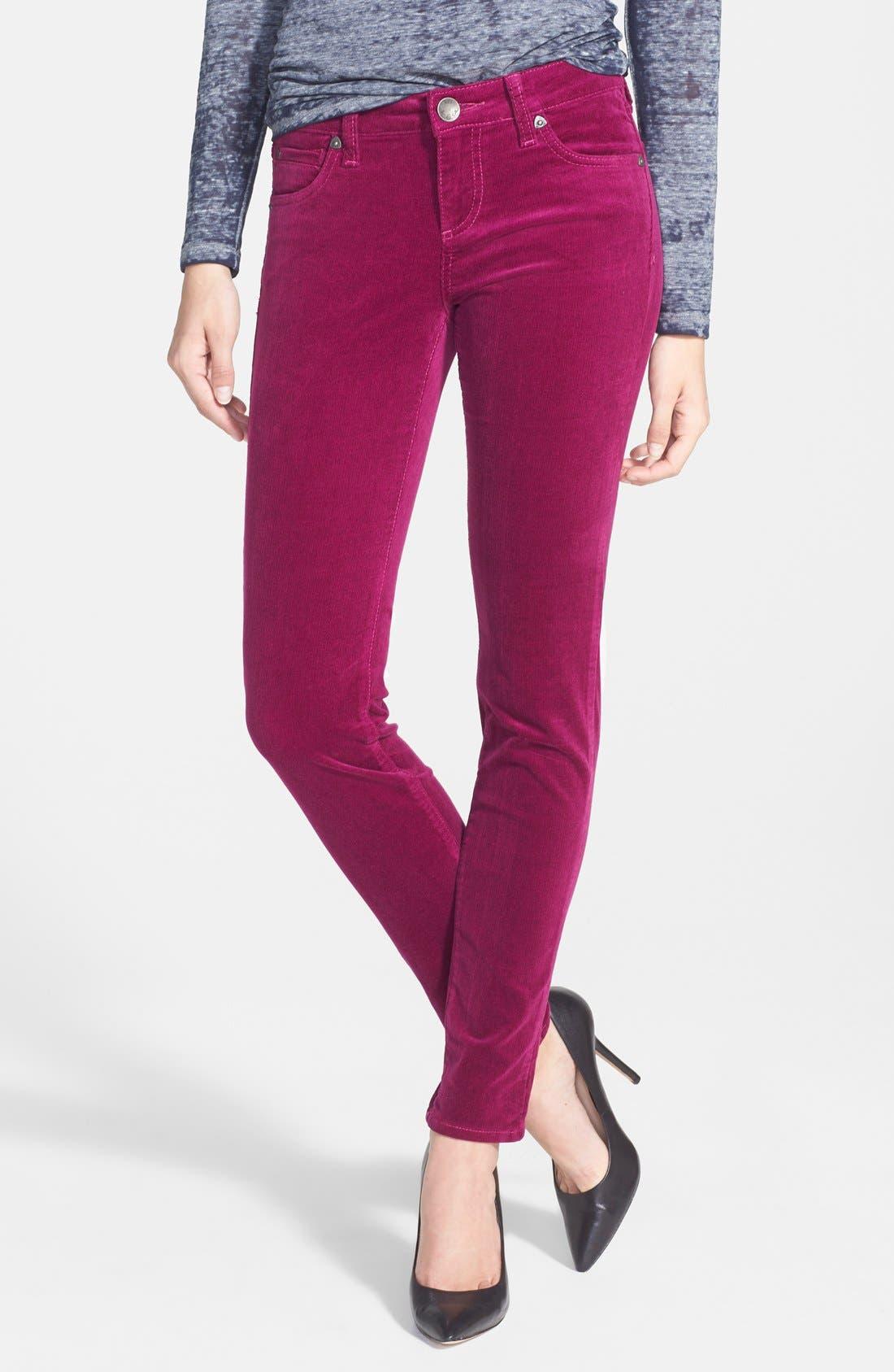 'Diana' Stretch Corduroy Skinny Pants,                             Main thumbnail 45, color,
