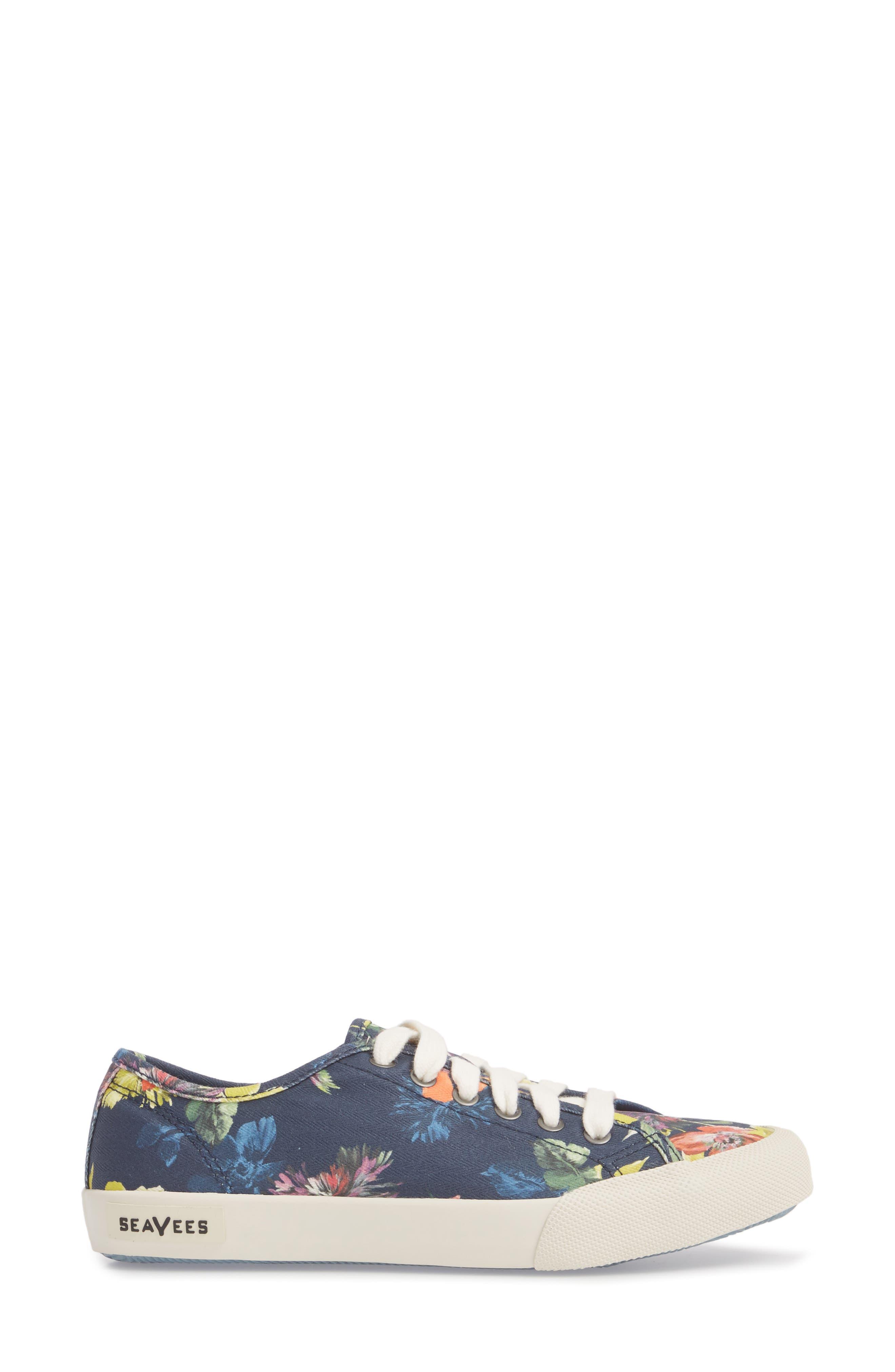 x Trina Turk Monterey Sneaker,                             Alternate thumbnail 3, color,                             NAVY CHRYSANTHEMUM