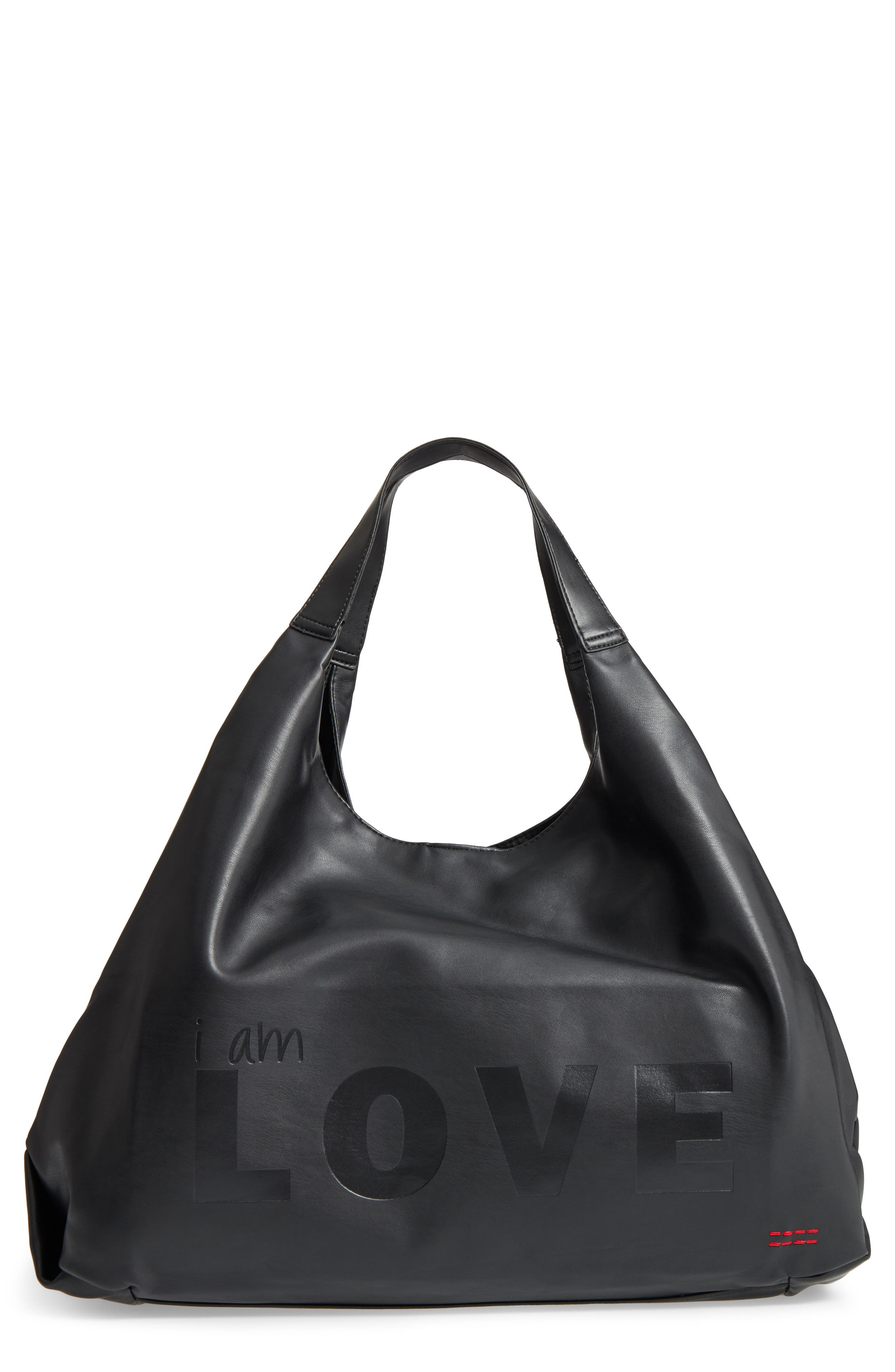Slouchy Faux Leather Hobo,                             Main thumbnail 1, color,                             001
