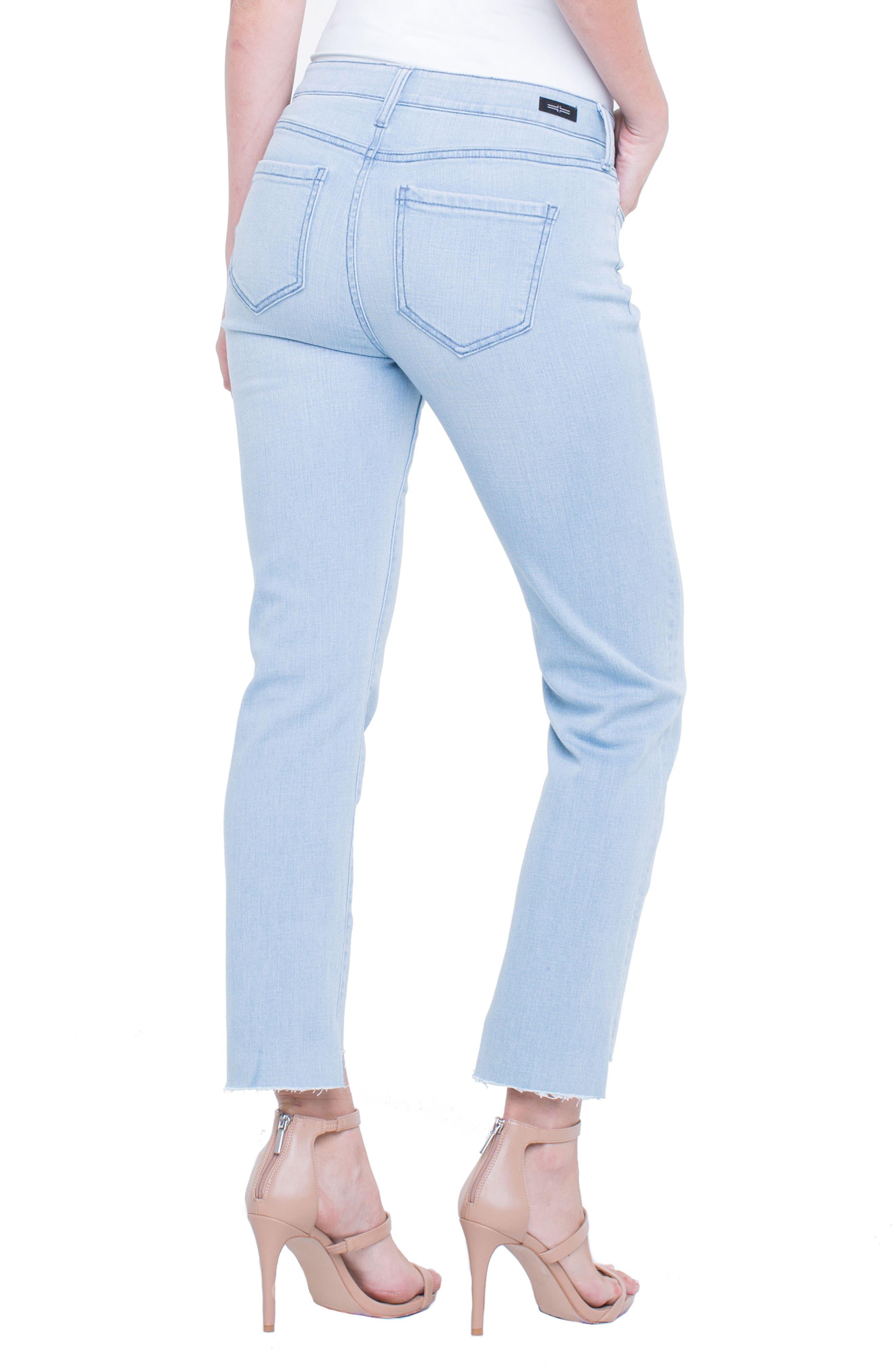 Jayden Crop Straight Leg Jeans,                             Alternate thumbnail 4, color,                             401