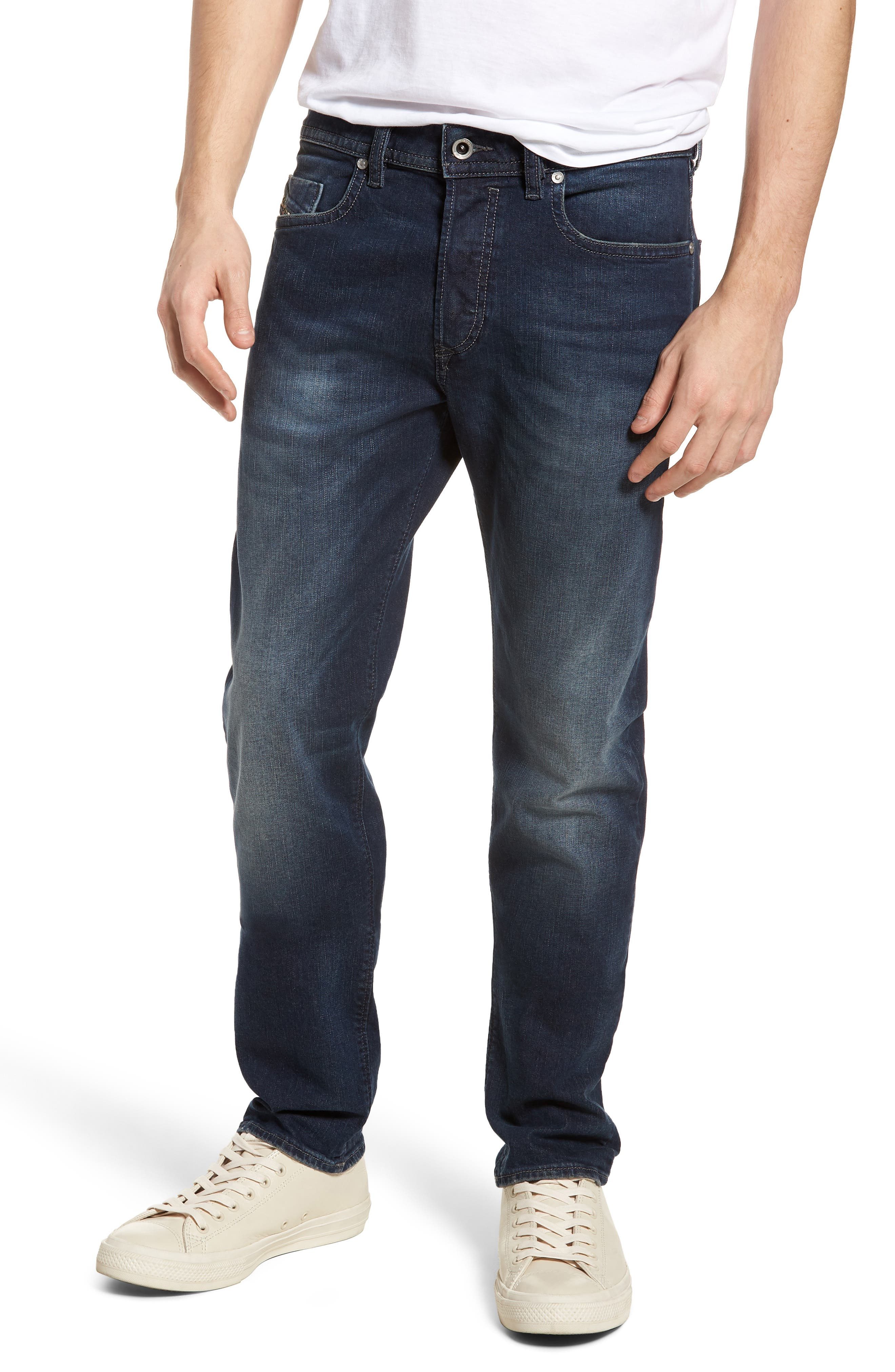 Buster Slim Straight Leg Jeans,                             Main thumbnail 1, color,                             BLUE