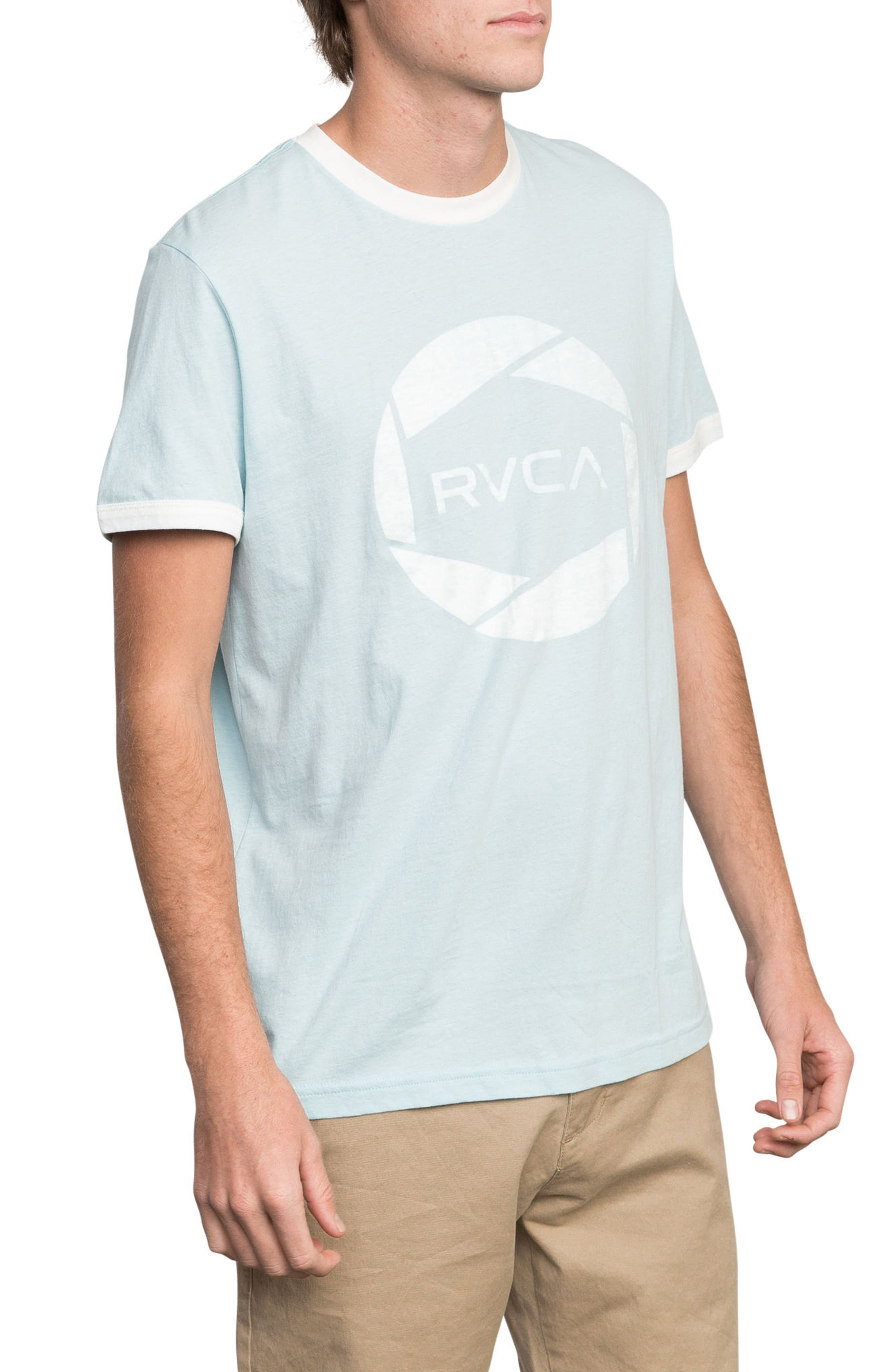 Big Network Ringer T-Shirt,                             Alternate thumbnail 3, color,                             COSMOS