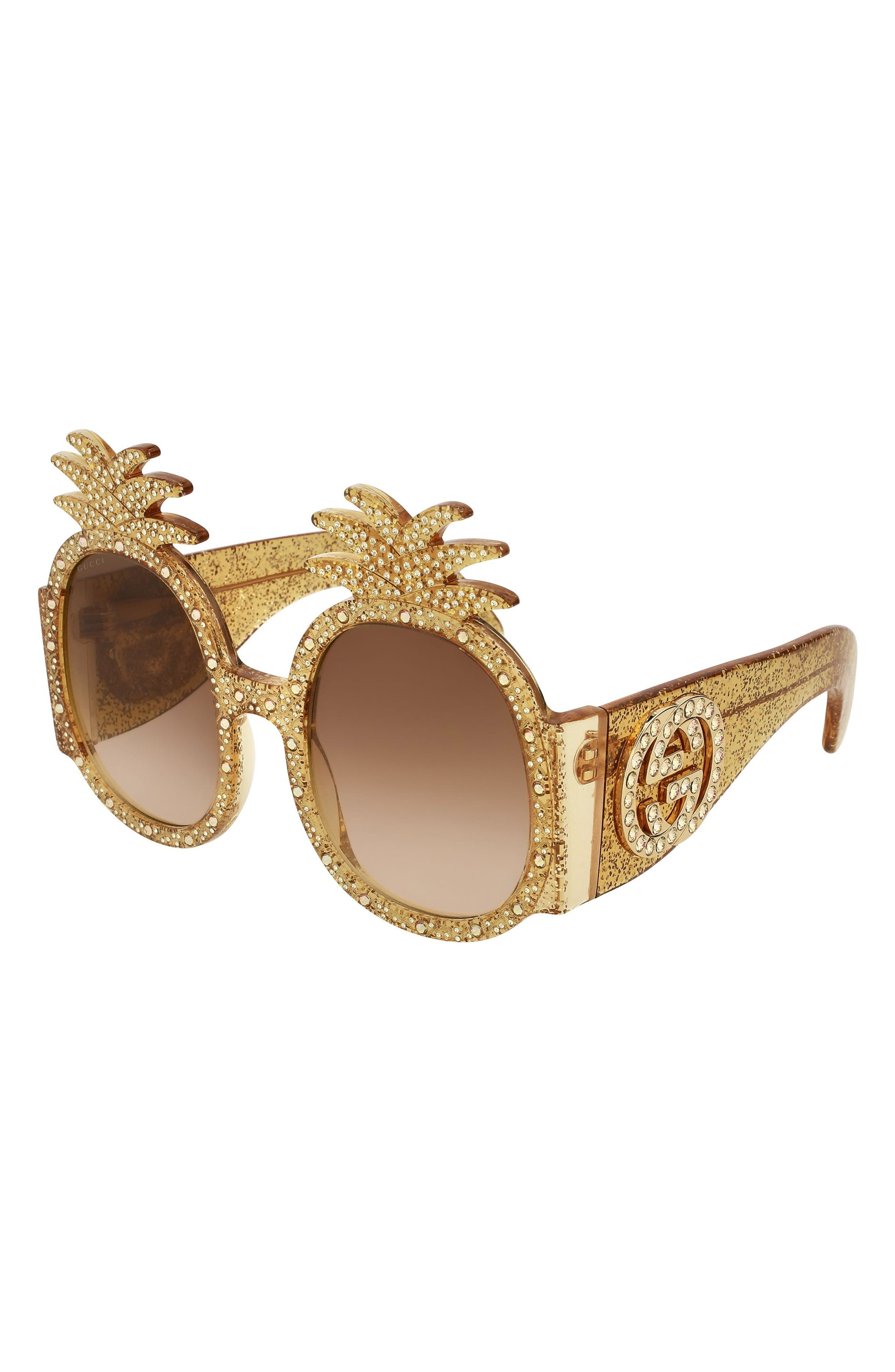 53mm Pineapple Sunglasses,                             Alternate thumbnail 2, color,                             GOLD