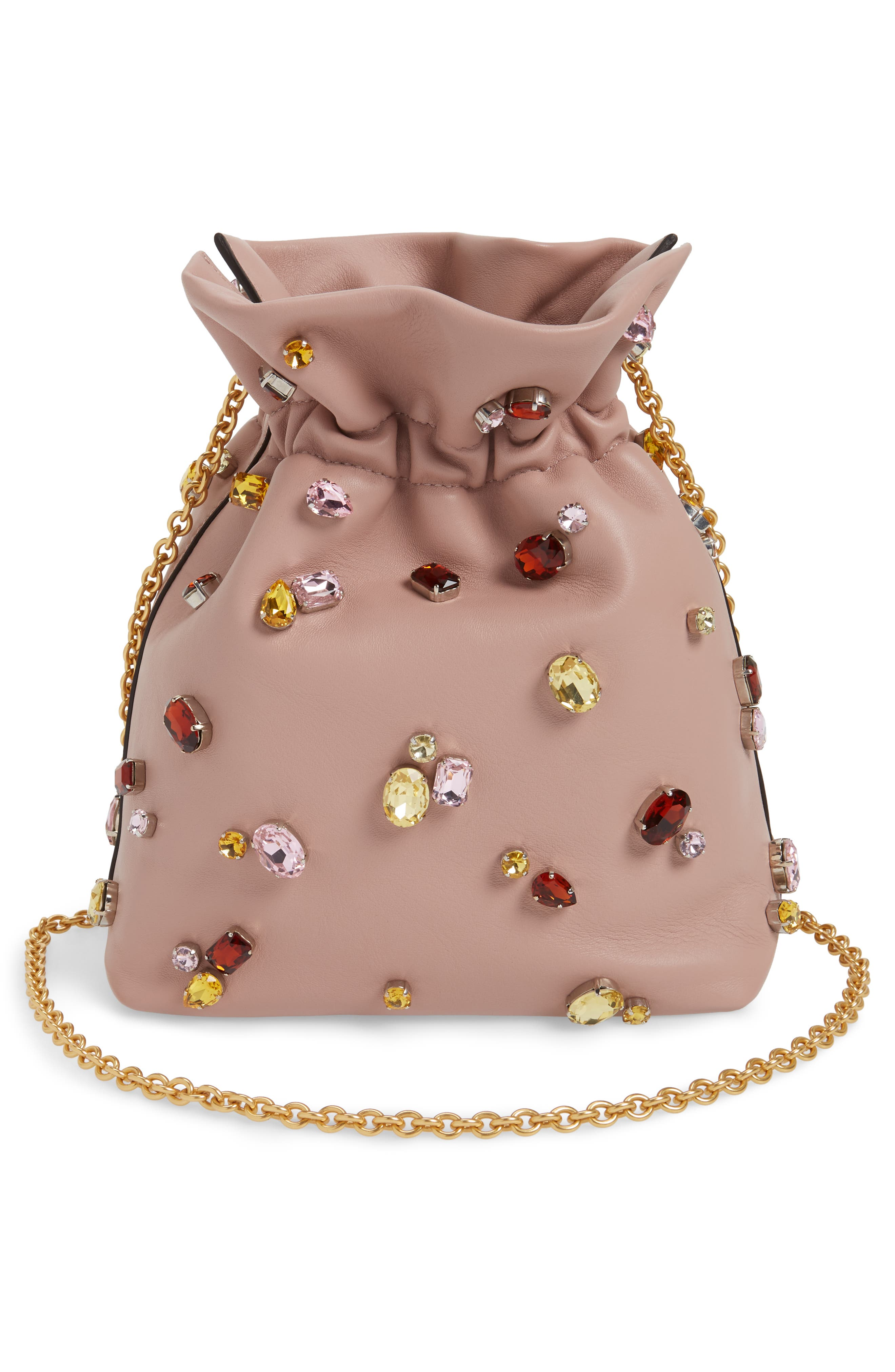 Mini Lynton Embellished Leather Bucket Bag,                             Alternate thumbnail 3, color,