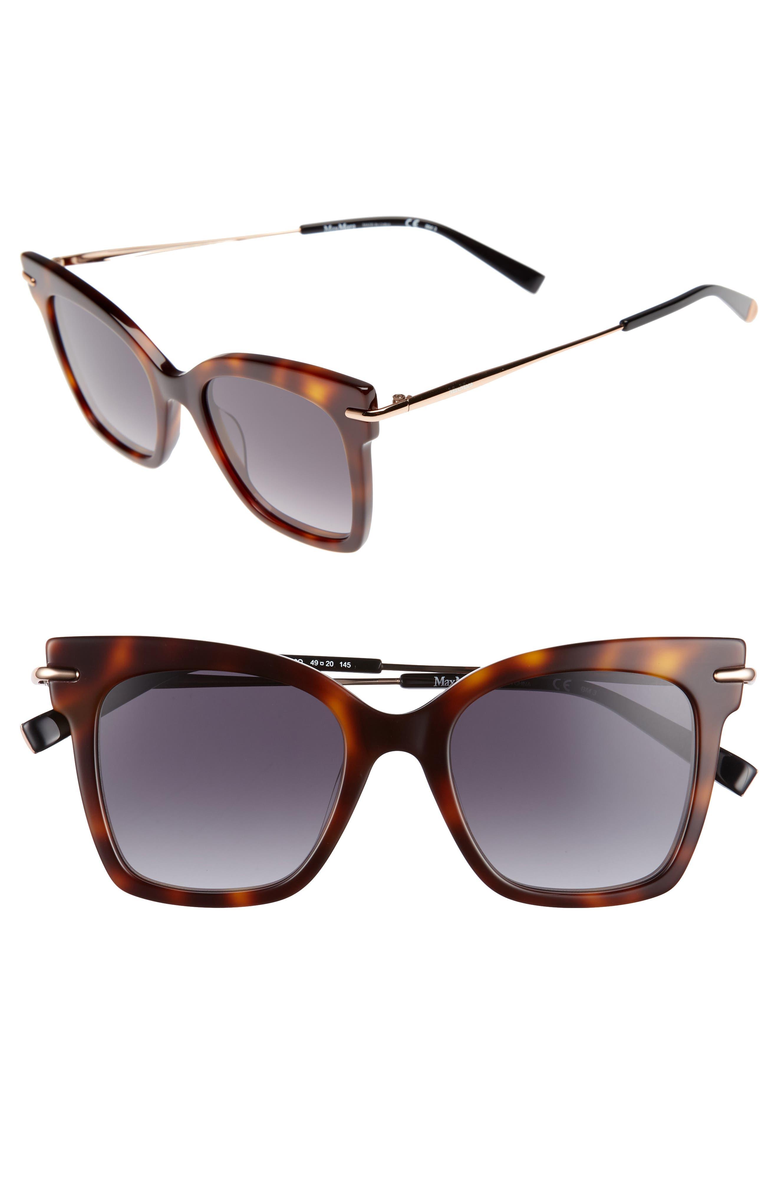 Needliv 49mm Gradient Cat Eye Sunglasses,                         Main,                         color, 001