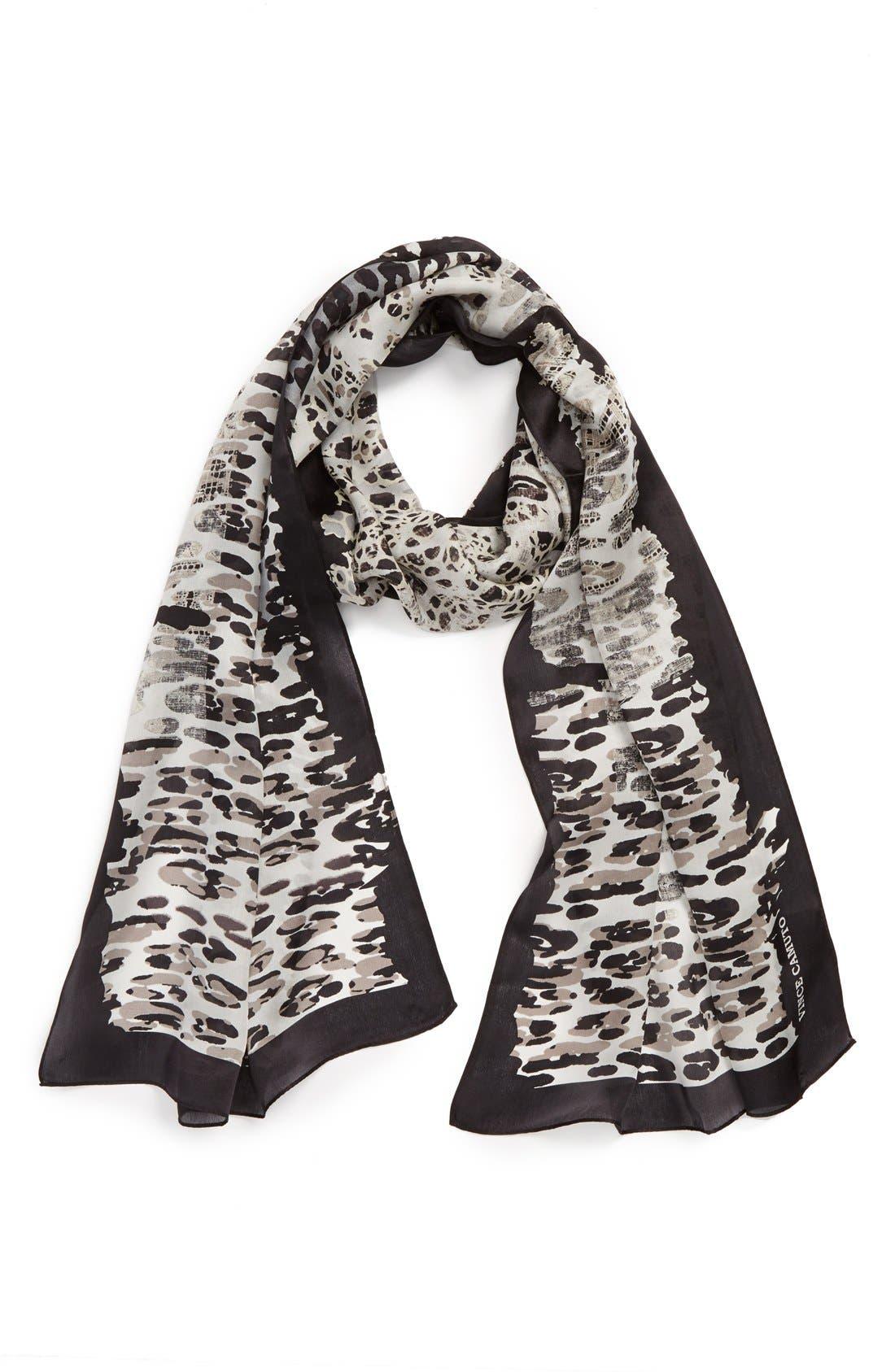 Cheetah Silk Scarf, Main, color, 001