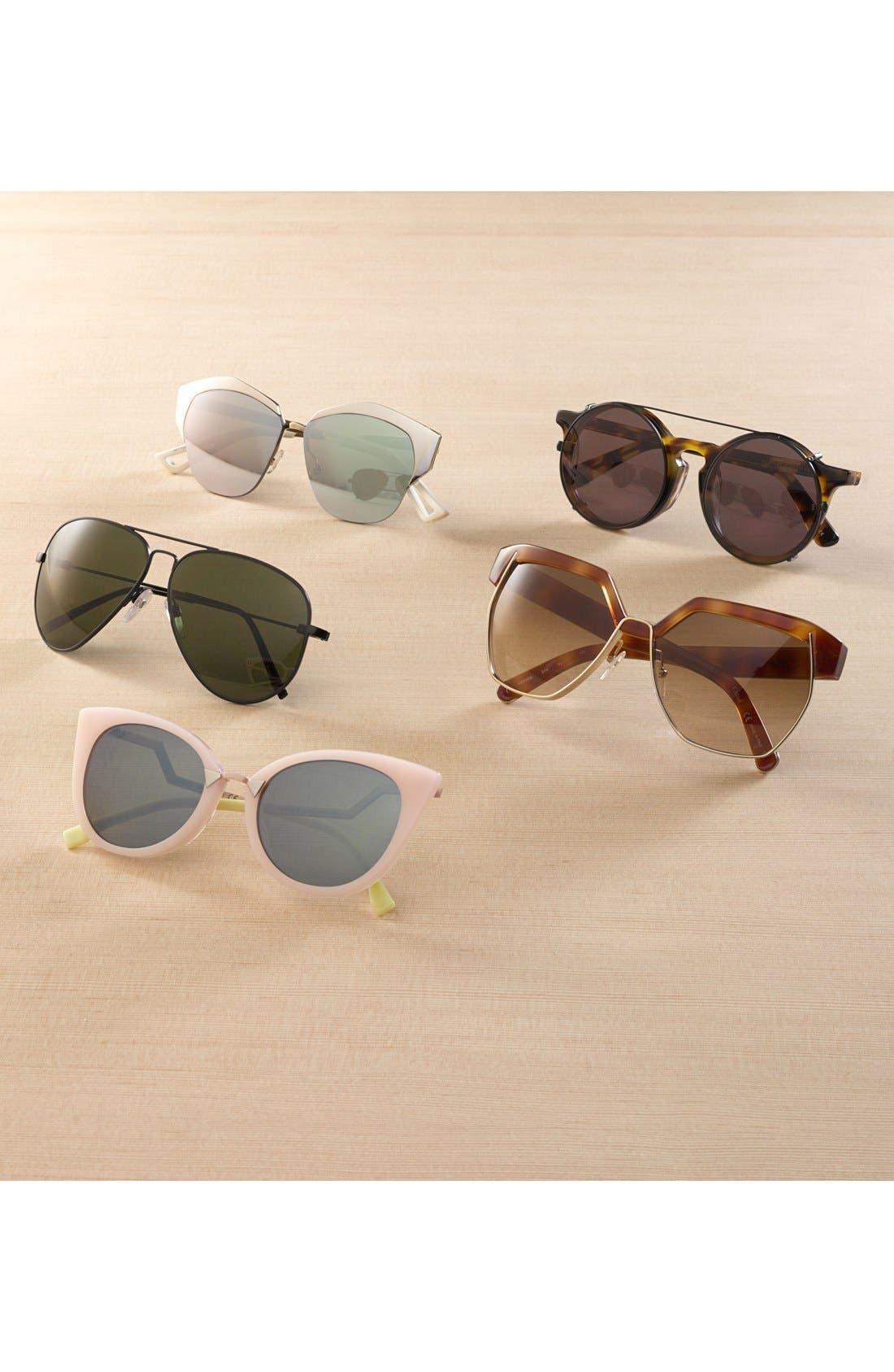 'AV1 XL' 62mm Aviator Sunglasses,                             Alternate thumbnail 4, color,                             GOLD/ BRONZE