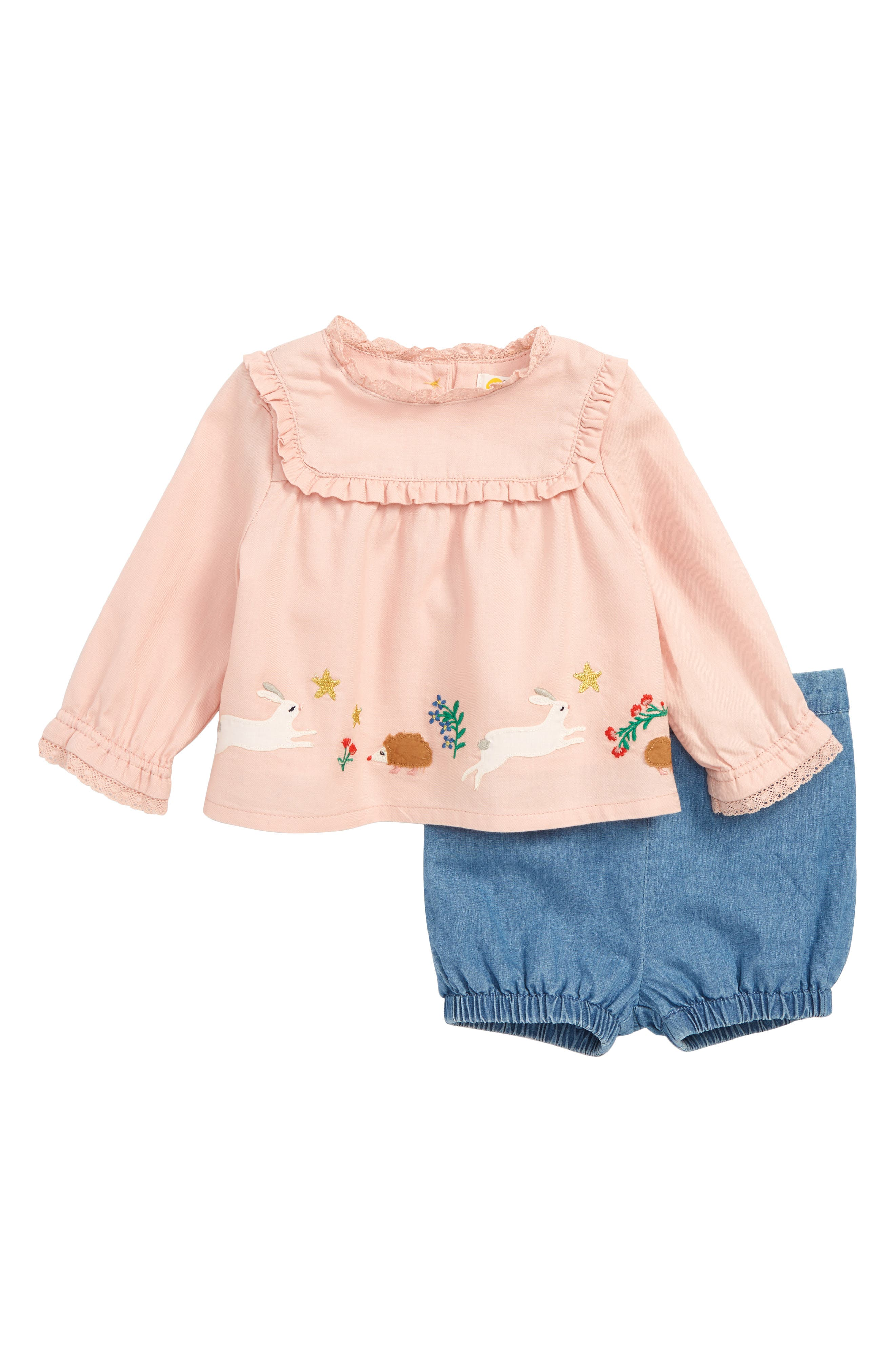 Provence Embroidered Top & Shorts Set,                         Main,                         color, 684
