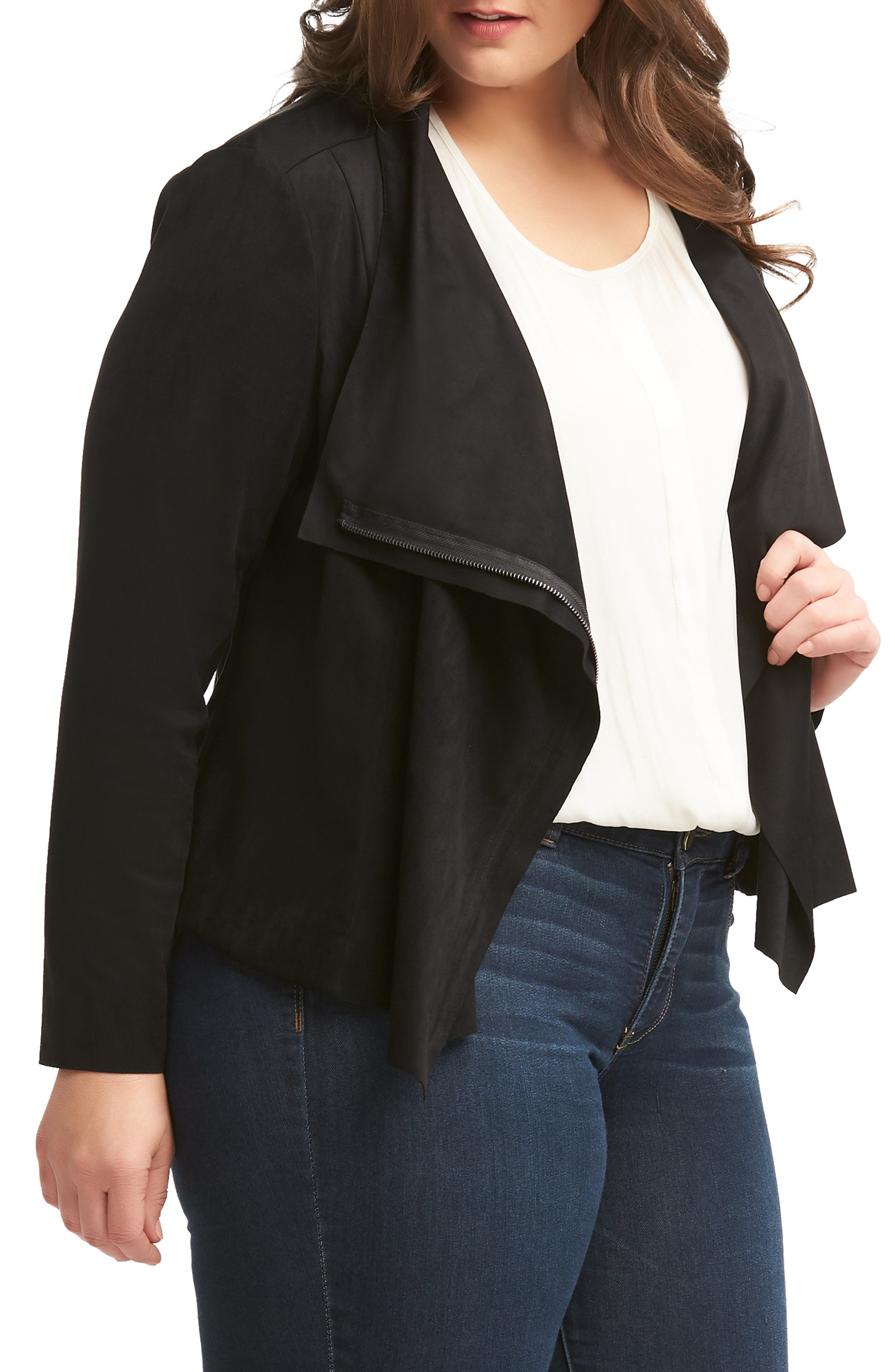 LEMON TART,                             Sayna Moto Jacket,                             Alternate thumbnail 3, color,                             BLACK